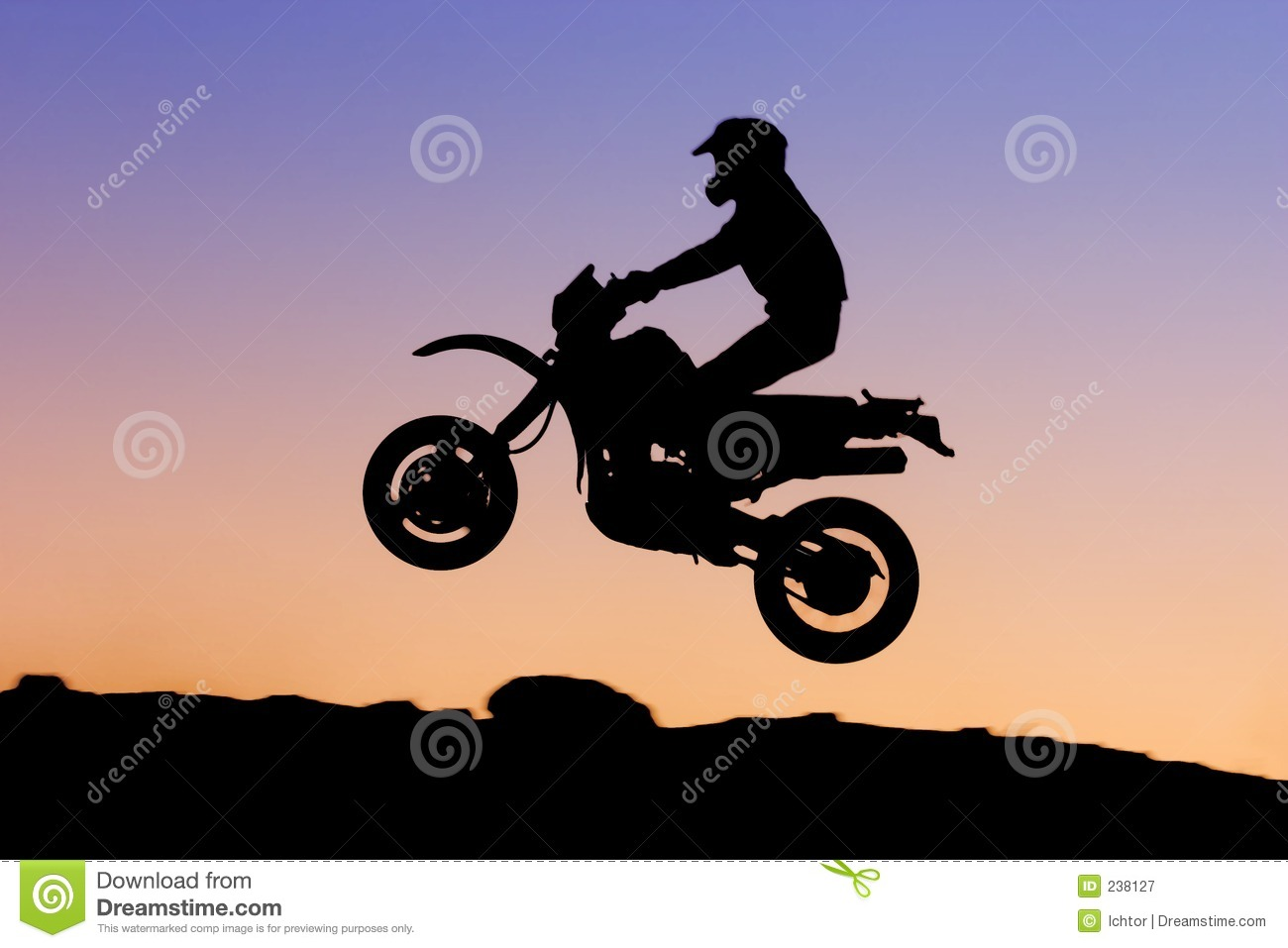 Motorbike Silhouette Royalty Free Stock Photography - Image: 238127