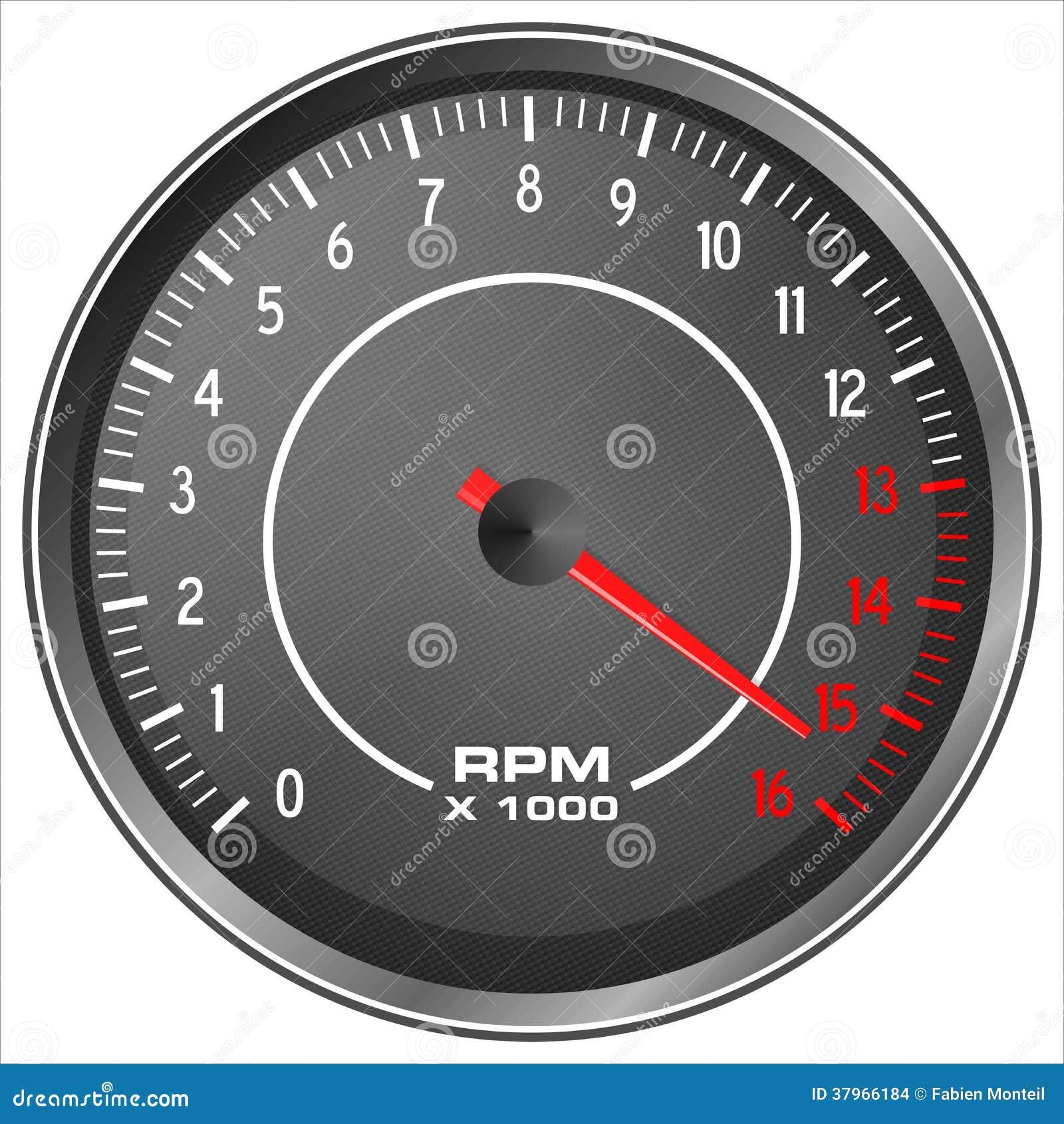 Motorbike Tachometer Stock Images