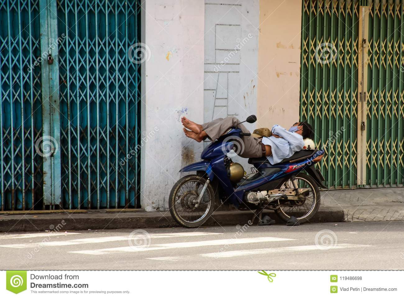 Asian motorcycle taxi