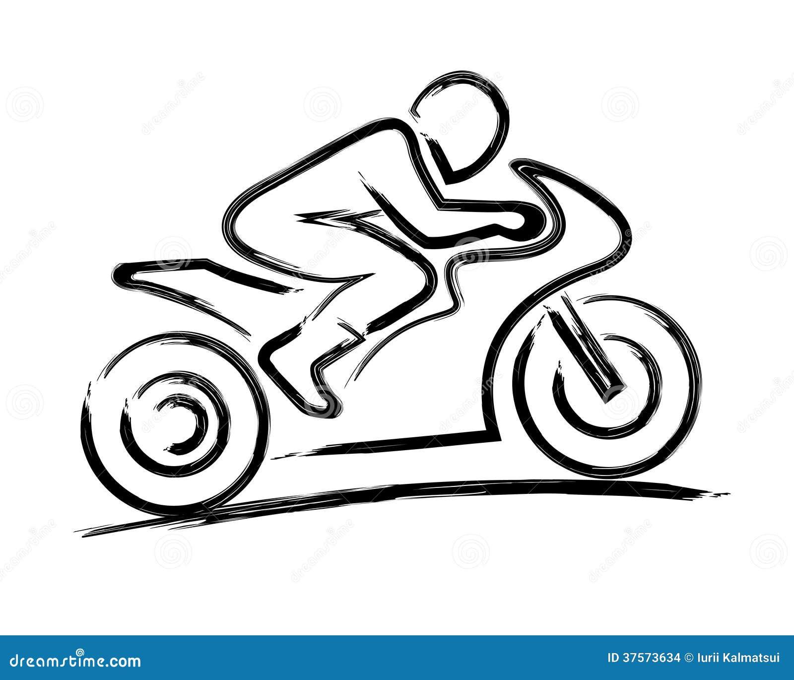 motorbiker stilizzato illustrazione di stock
