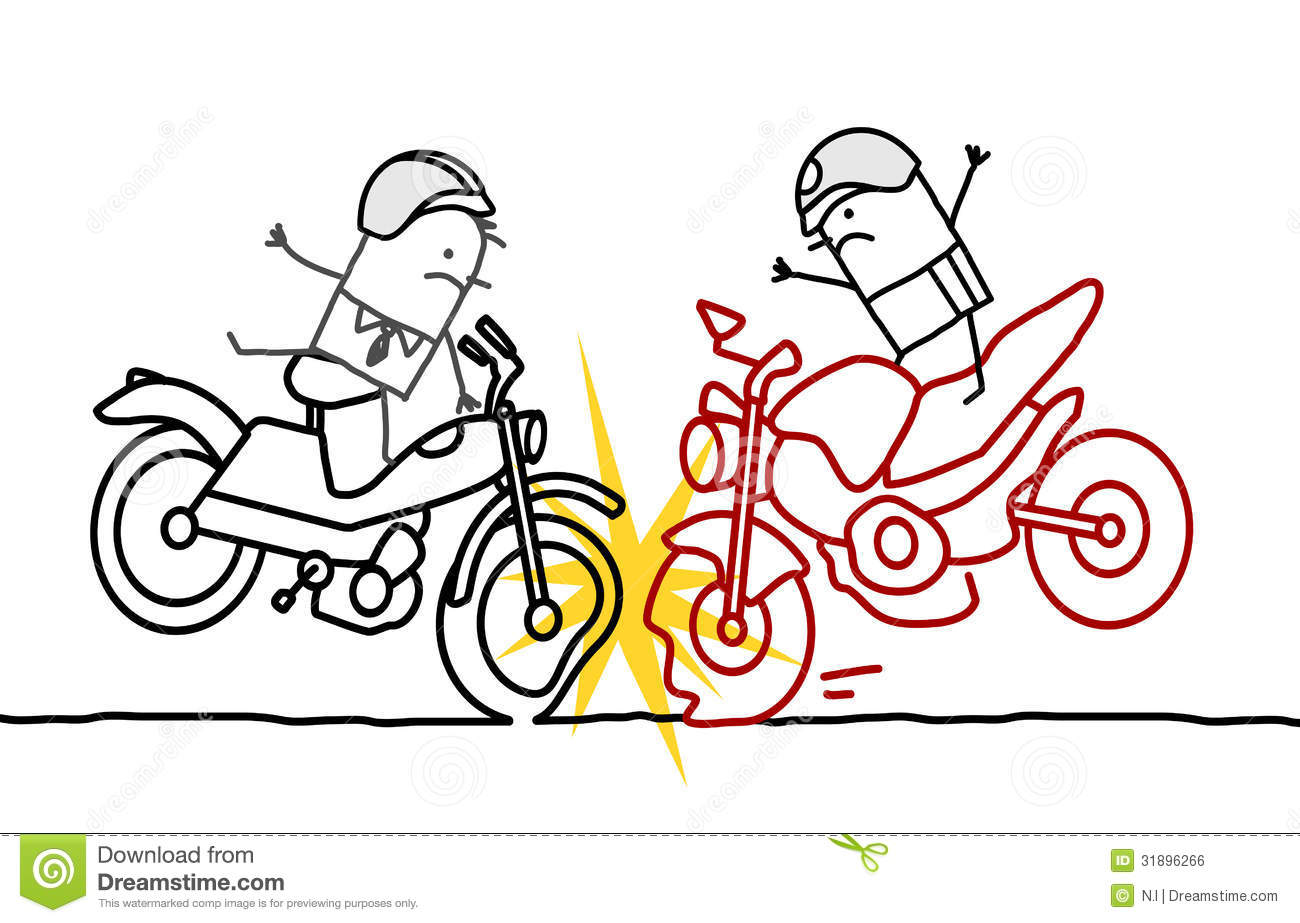 Motorcycle accident stock vector. Illustration of motorcycle ...