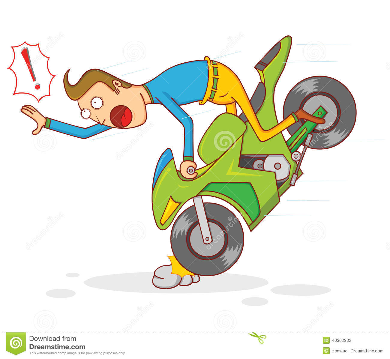 Illustration of a man falling when riding a motorcycle. available in ...