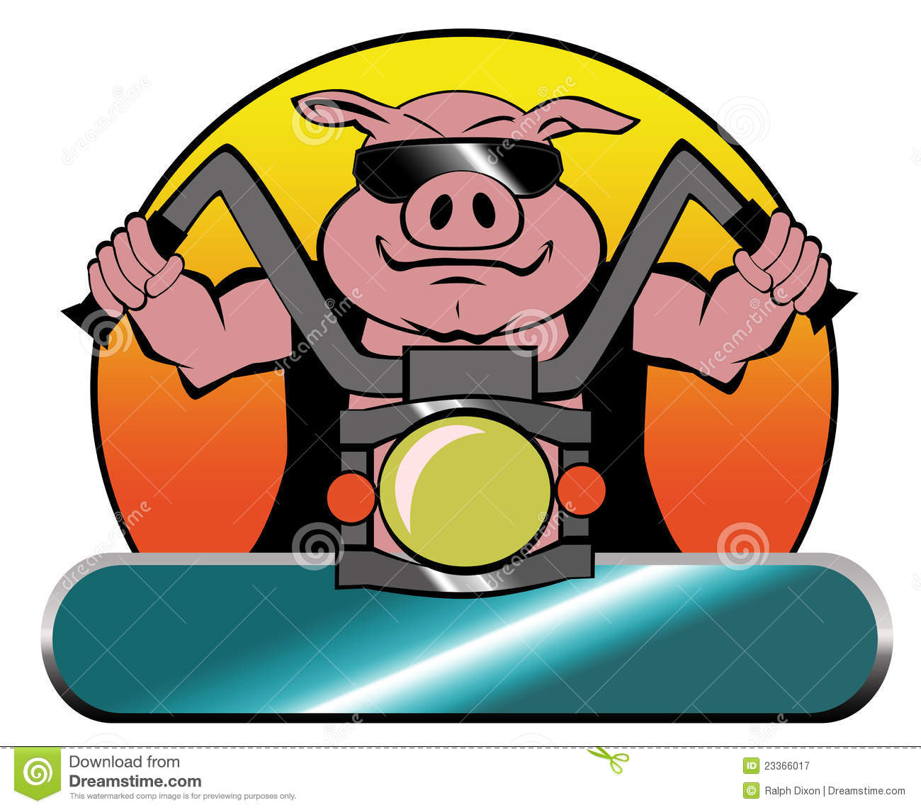 ... Biker Hog On A Harley Royalty Free Stock Photography - Image: 23366017