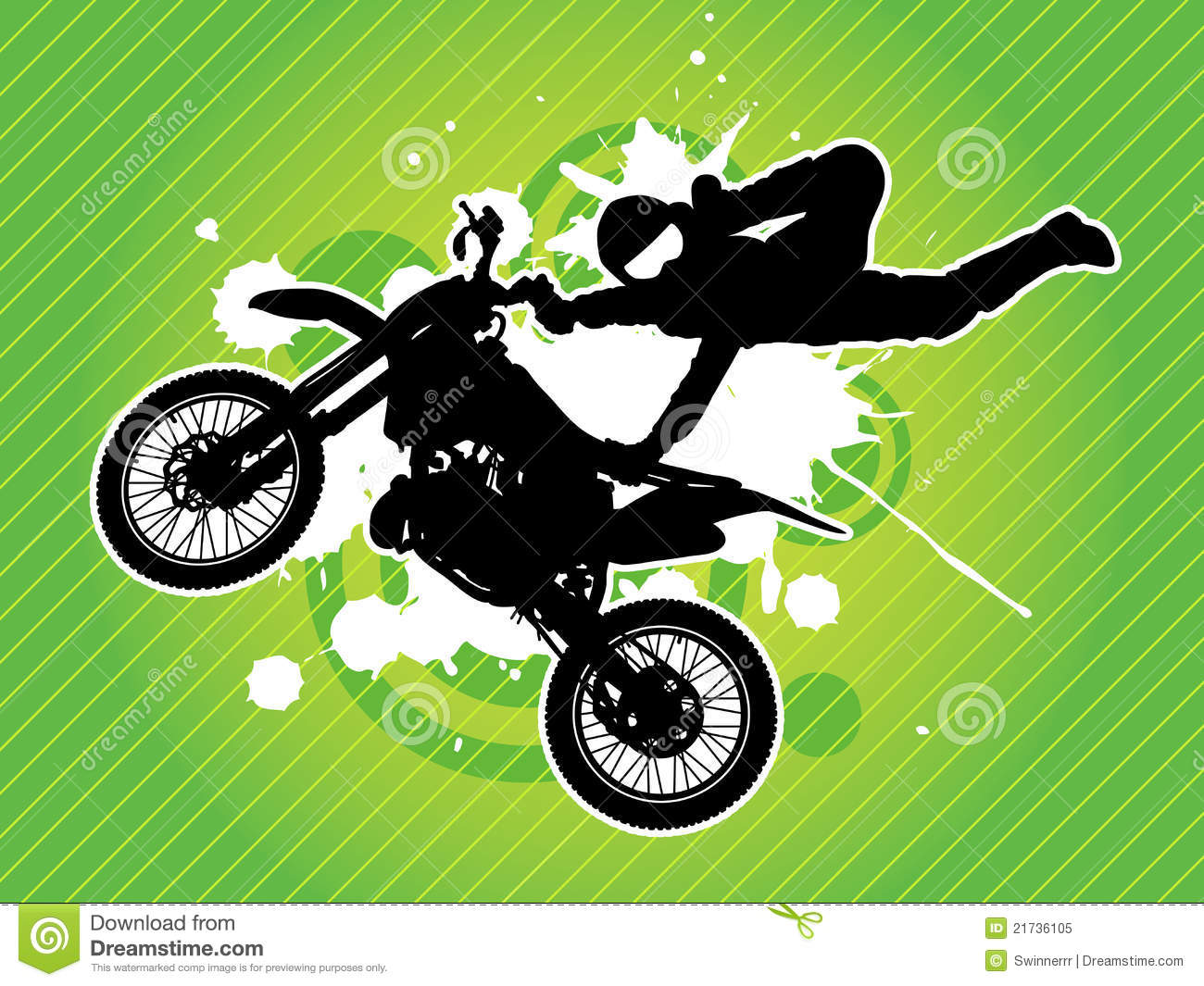motorcycle and biker silhouette vector royalty free stock