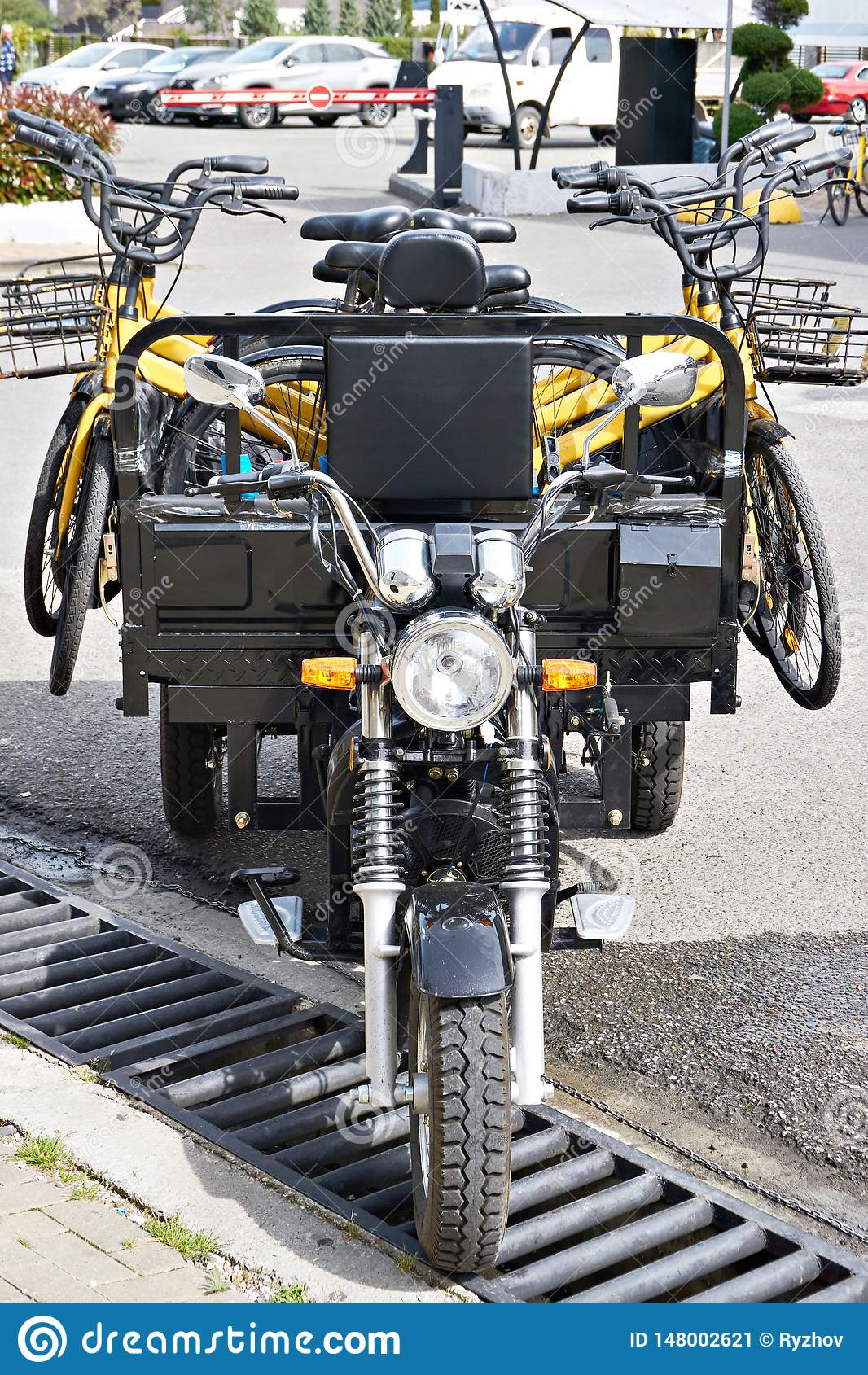 Motorcycle carts with rental bikes