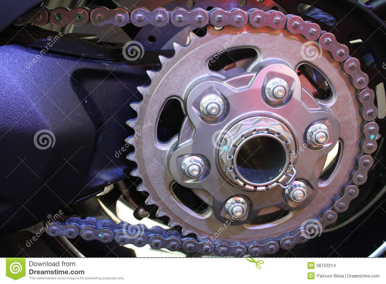 Motorcycle Chain Stock Photo Image Of Wheels Replacement