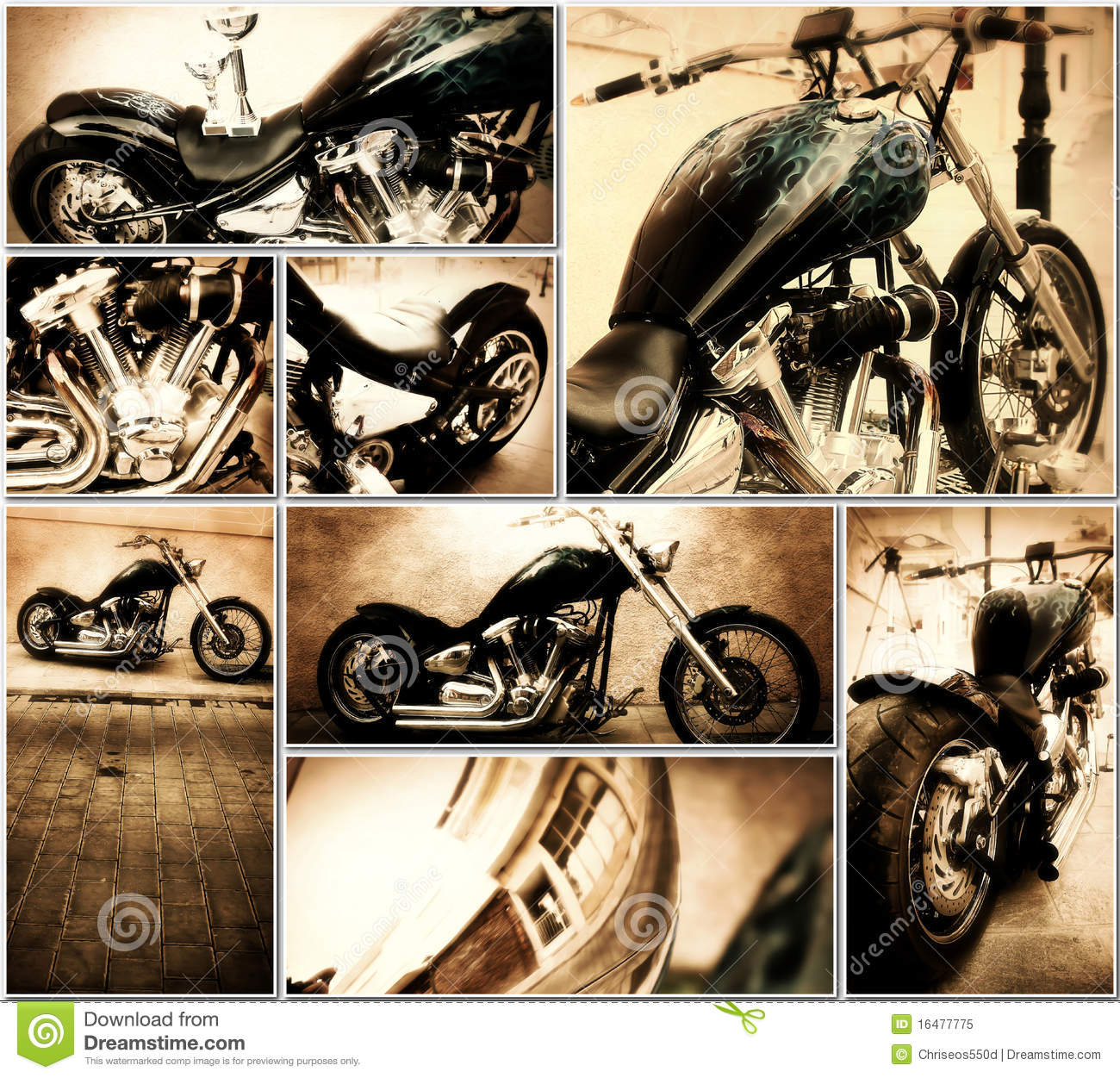 Motorcycle Collage Royalty Free Stock Photo Image 16477775