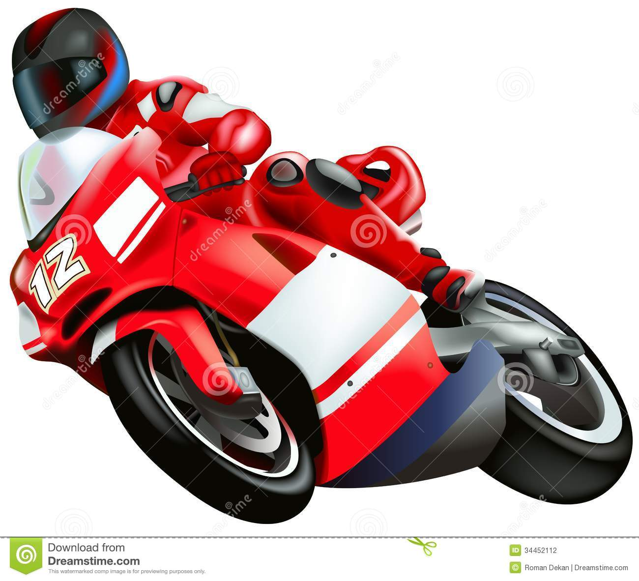 Motorcycle stock vector. Image of windshield, driver ...