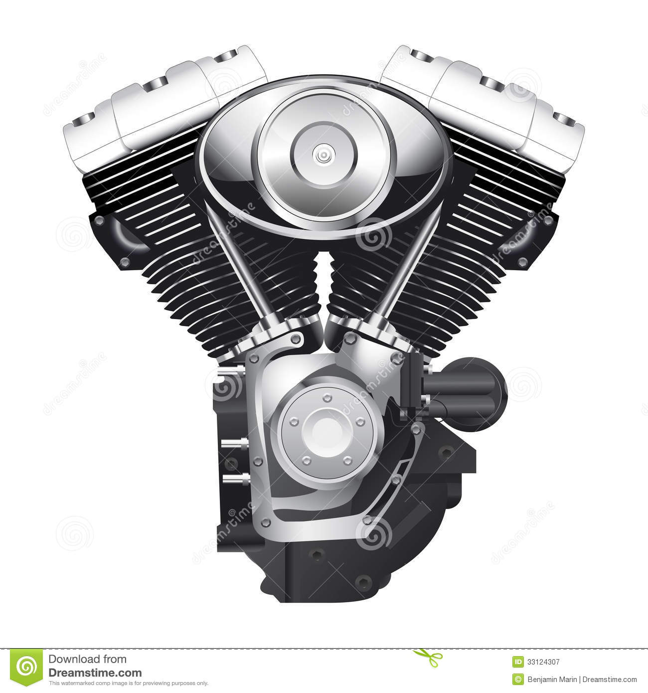 Old Bmw: Motorcycle Engine Royalty Free Stock Photography