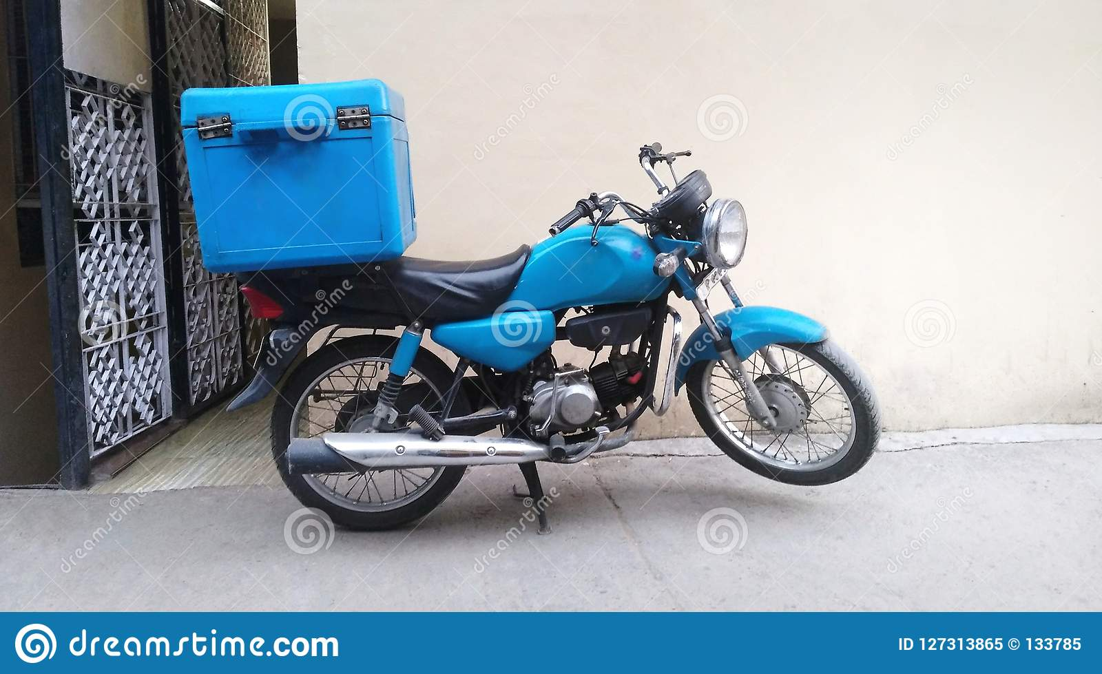Motorcycle for food delivery
