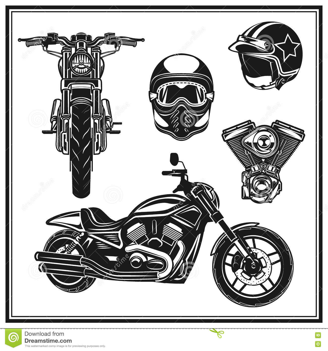 Motorcycle Front View ...