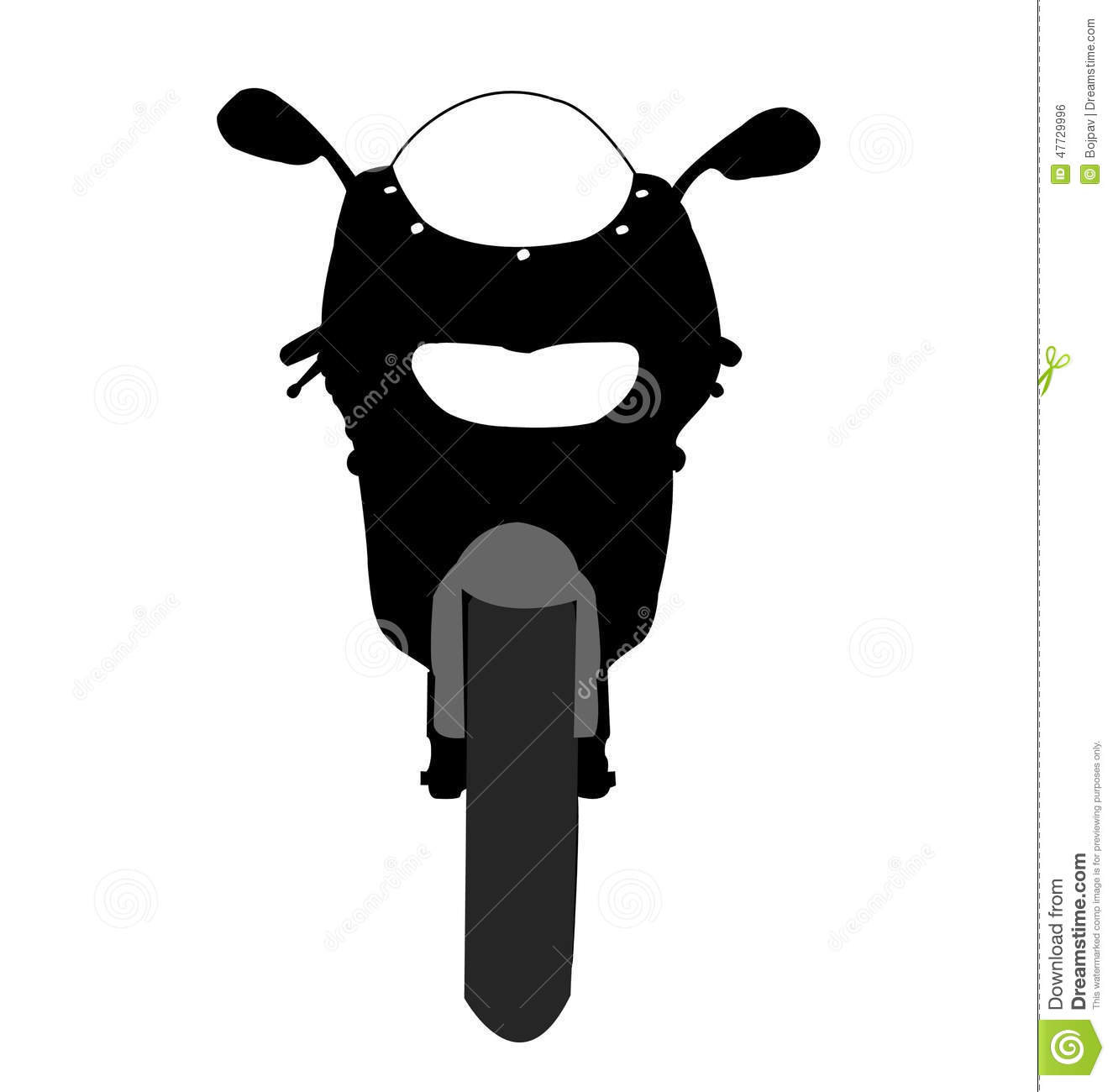 Motorcycle Front View Vector Stock Vector - Image: 47729996
