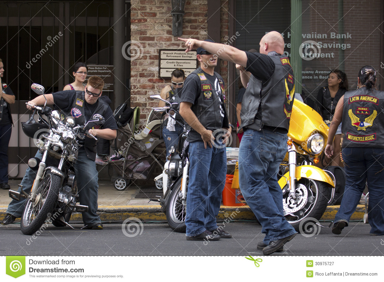 Motorcycle Gang Editorial Photography - Image: 30975727