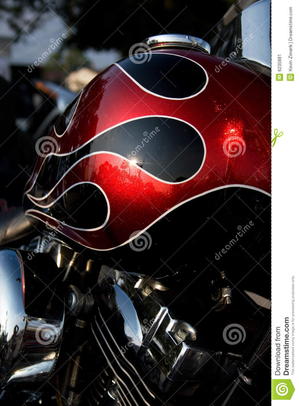 custom Harley Davidson touring motorcycle with original design paint ...