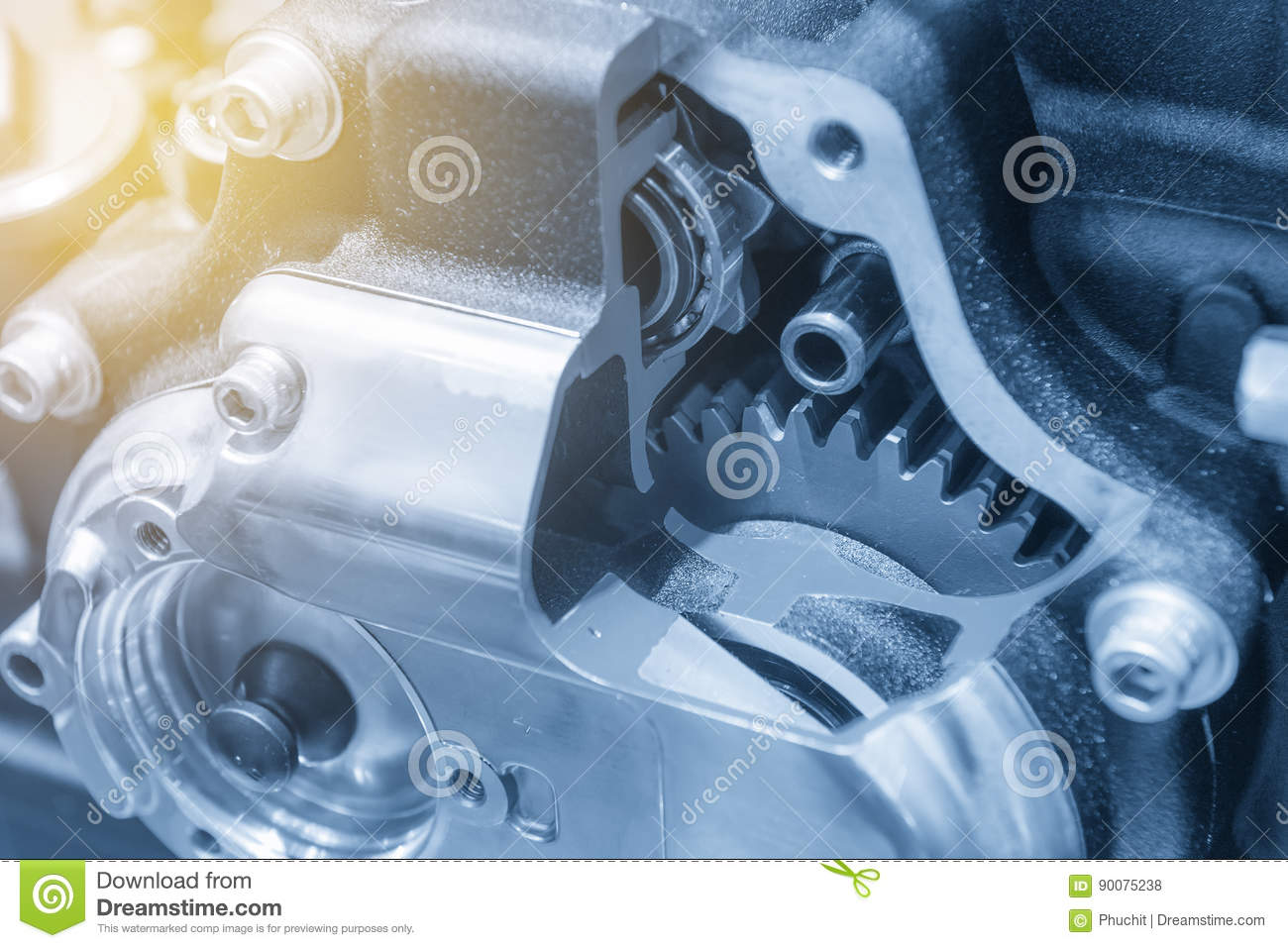 The Motorcycle Gear Box Stock Photo Image Of Design 90075238