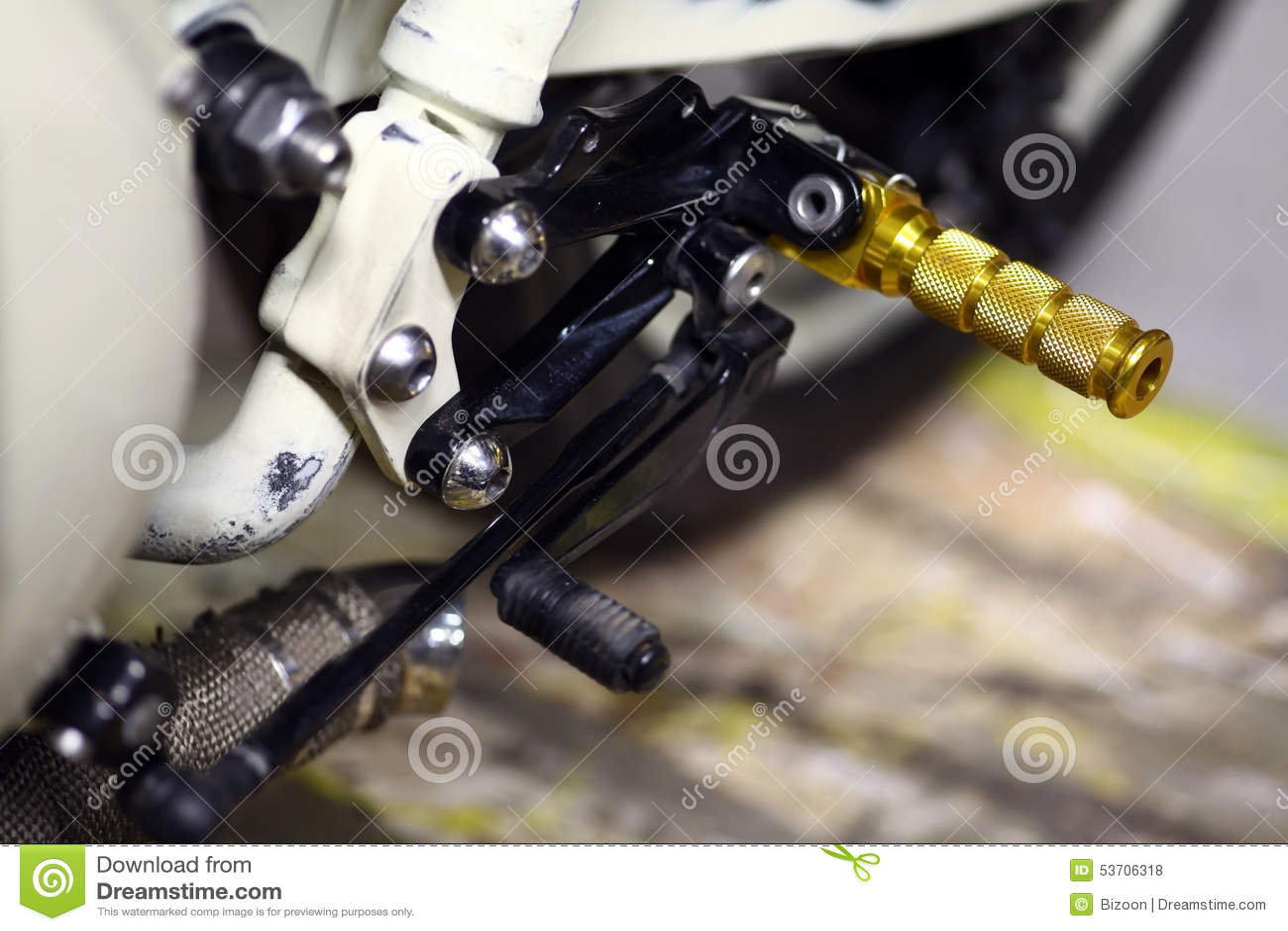 Motorcycle Gear Shifter Stock Photo Image Of Shift Shifter 53706318