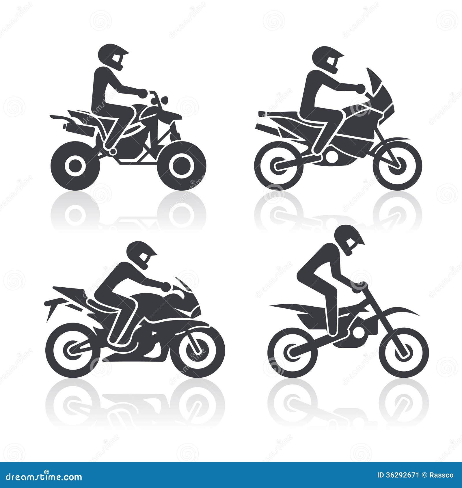 Motorcycle Icons Set Stock Image Image 36292671