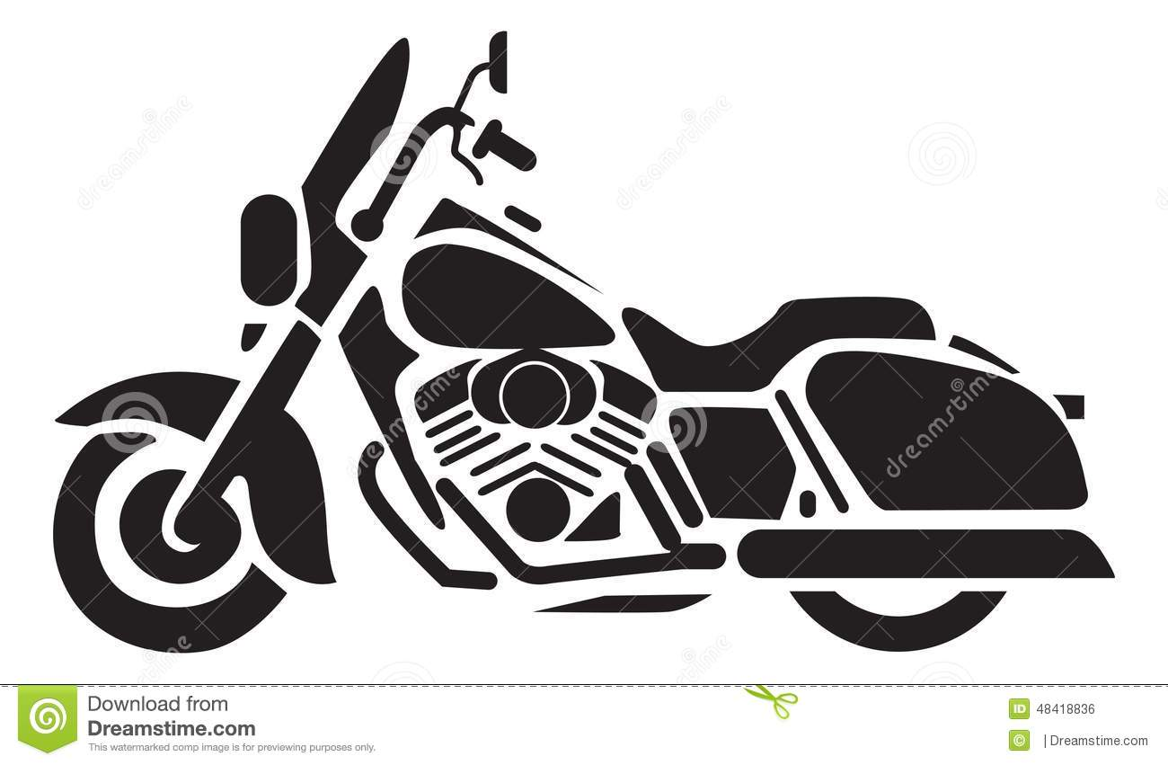 Motorcycle Icons Stock Illustration Image 48418836