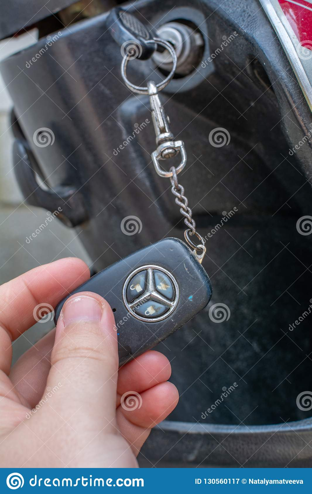 Motorcycle Ignition Key Switch Stock Image - Image of