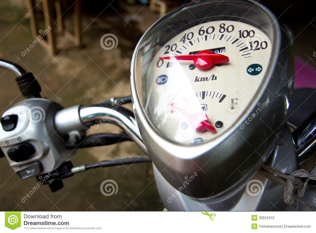 Motorcycle Instrument Panel : Motorcycle stock photo image