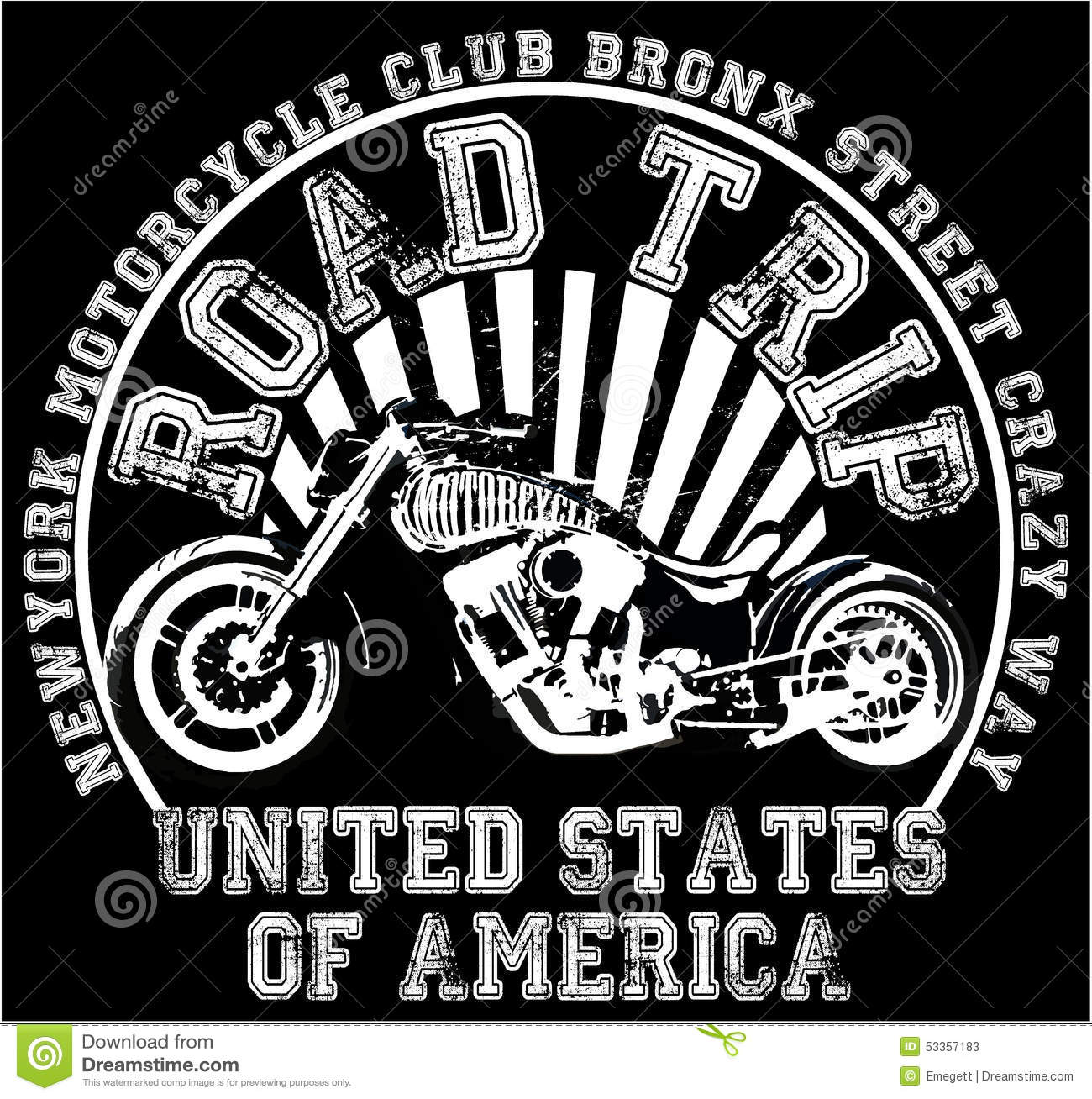 Design t shirt label - Chopper Custom Design Graphic Illustration Label Motorcycle Shirt