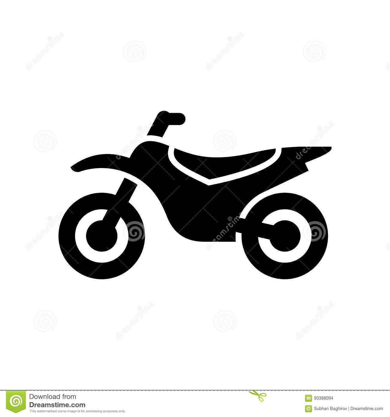 Motorcycle Motorbike Icon Simple Flat Vector Illustration Stock