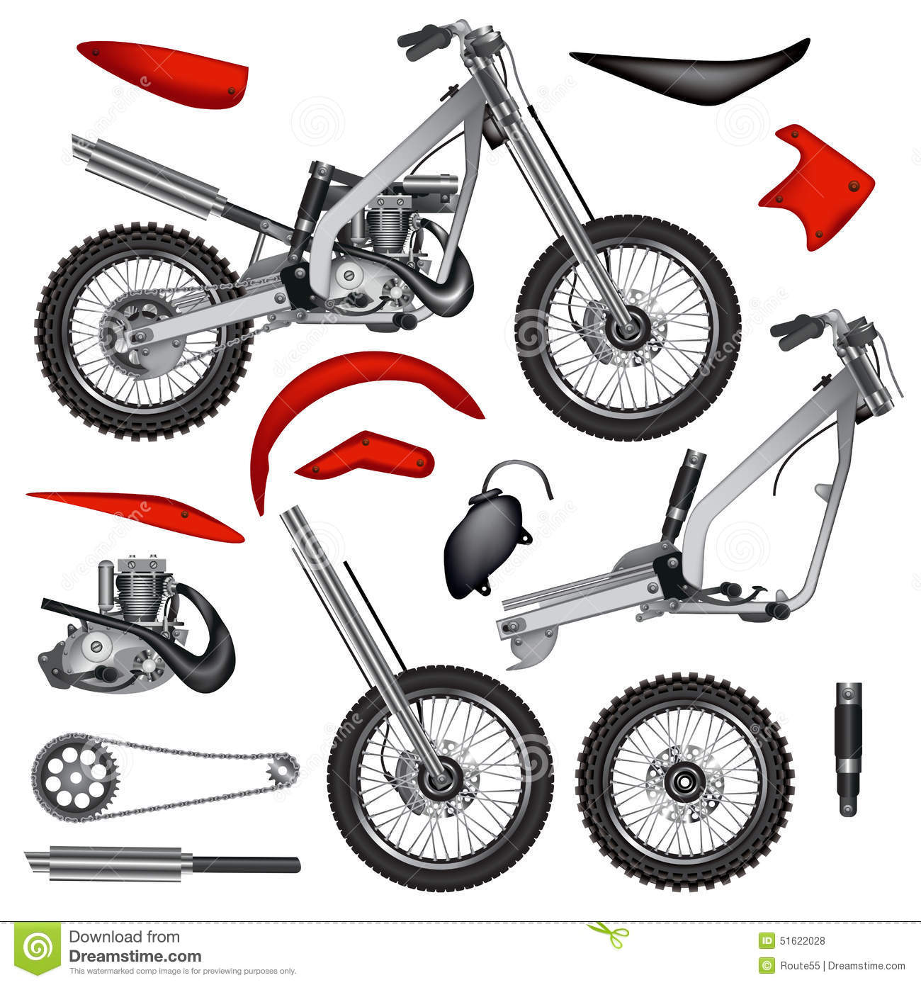 Motorcycle parts isola...