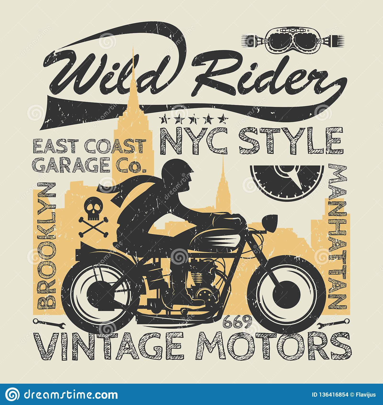 Moto Racer Retro Motorbike T Shirt Speedway. Vintage
