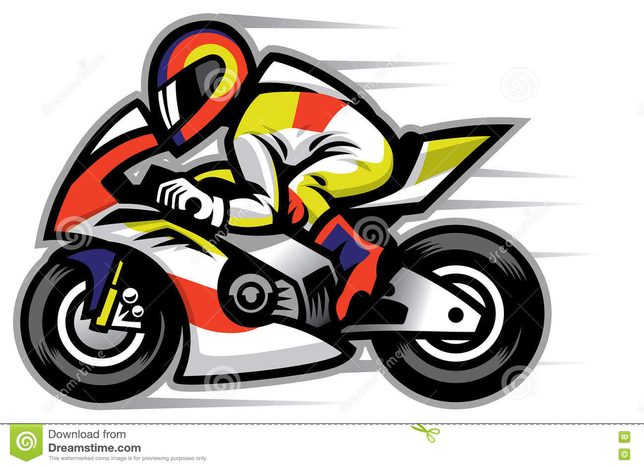 Motorcycle race mascot stock vector. Illustration of ...