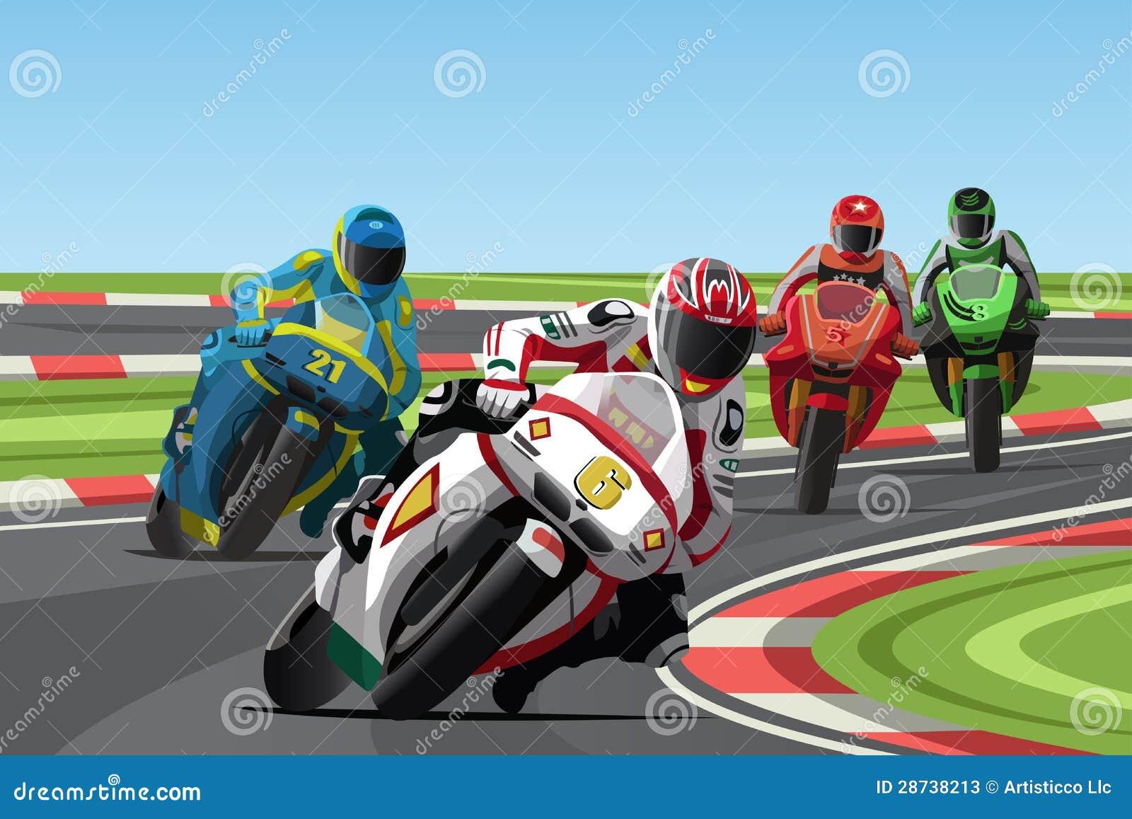 Motorcycle Racing Stock Illustrations 5 845 Motorcycle Racing