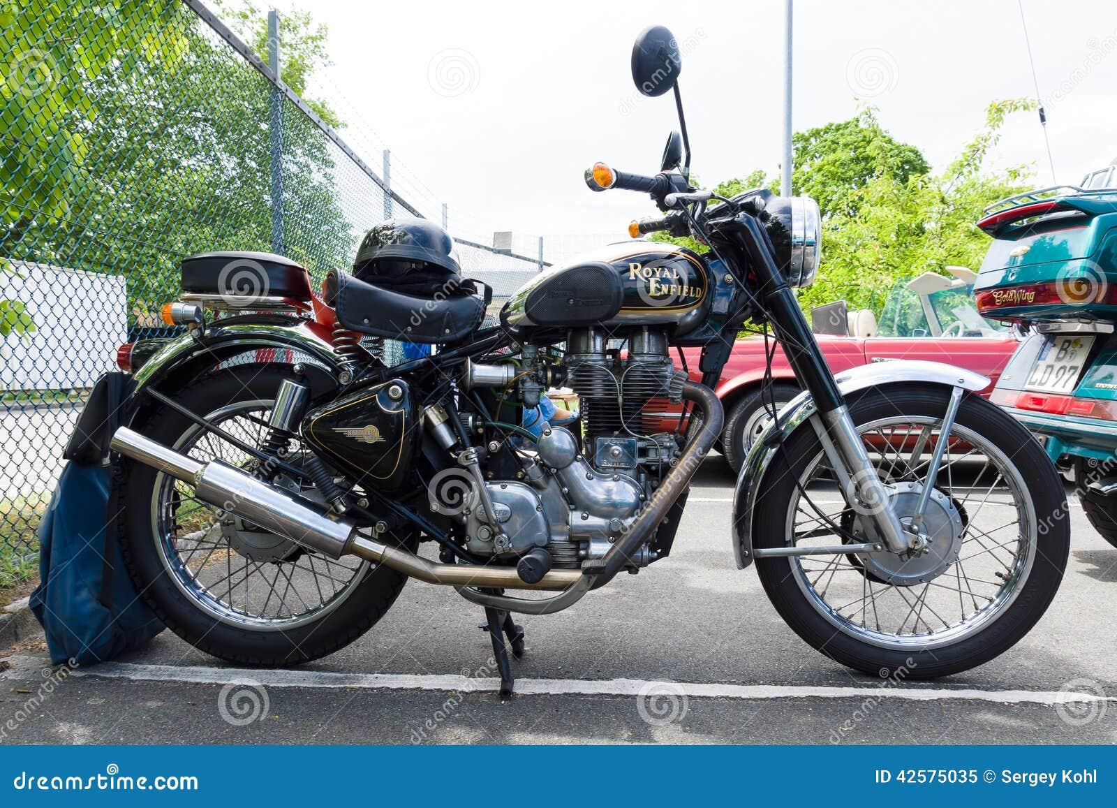 motorcycle royal enfield bullet 500 es editorial image image 42575035. Black Bedroom Furniture Sets. Home Design Ideas