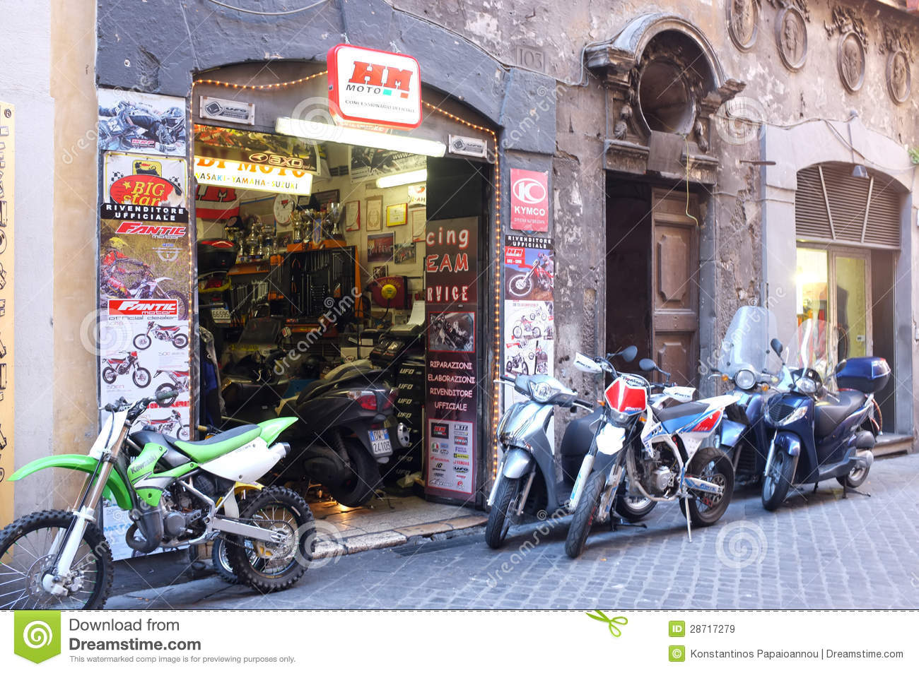 Motorcycle Shop Editorial Stock Image Image 28717279