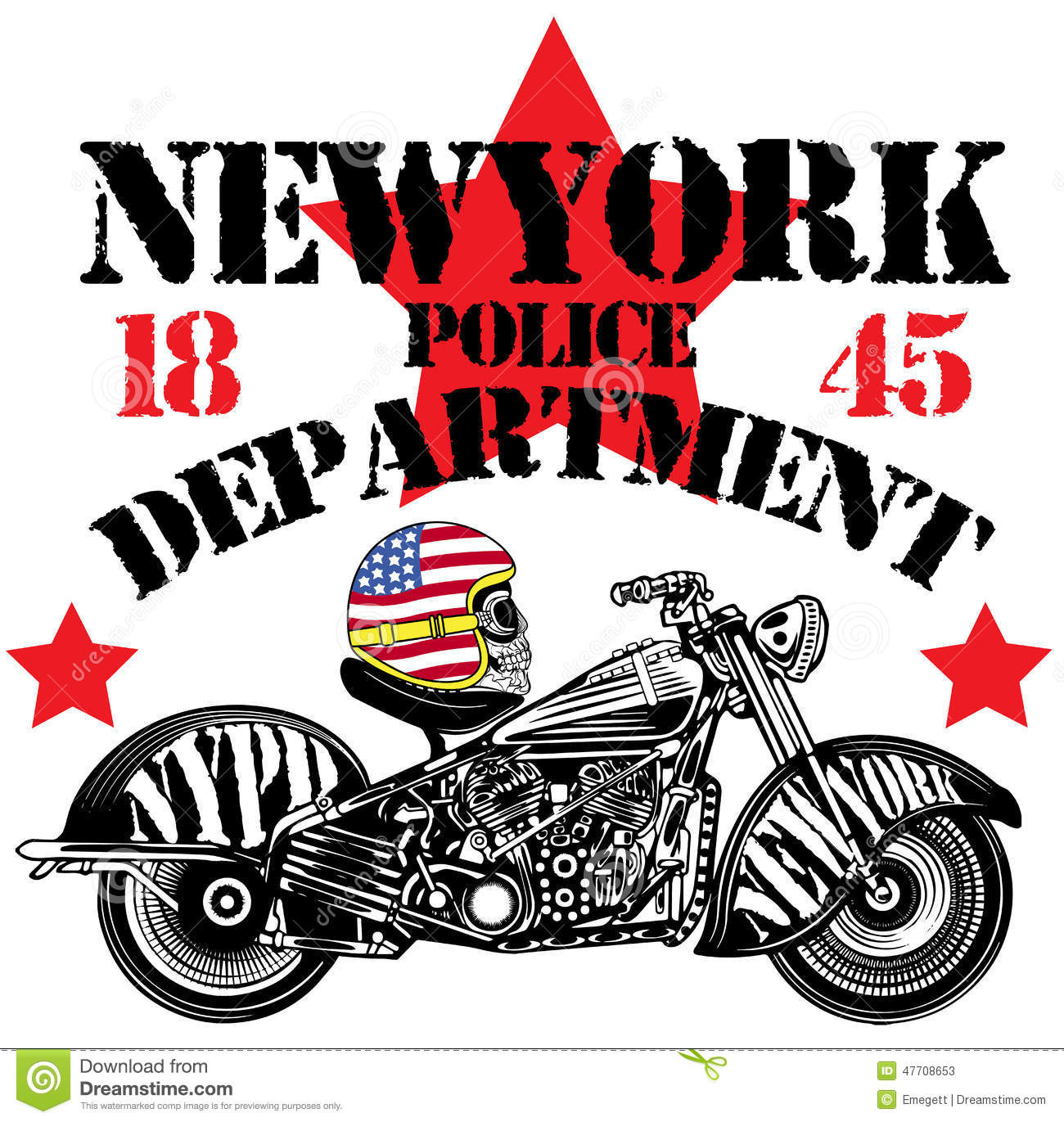 Motorcycle skull new york fun man t shirt graphic design for T shirt graphic designer