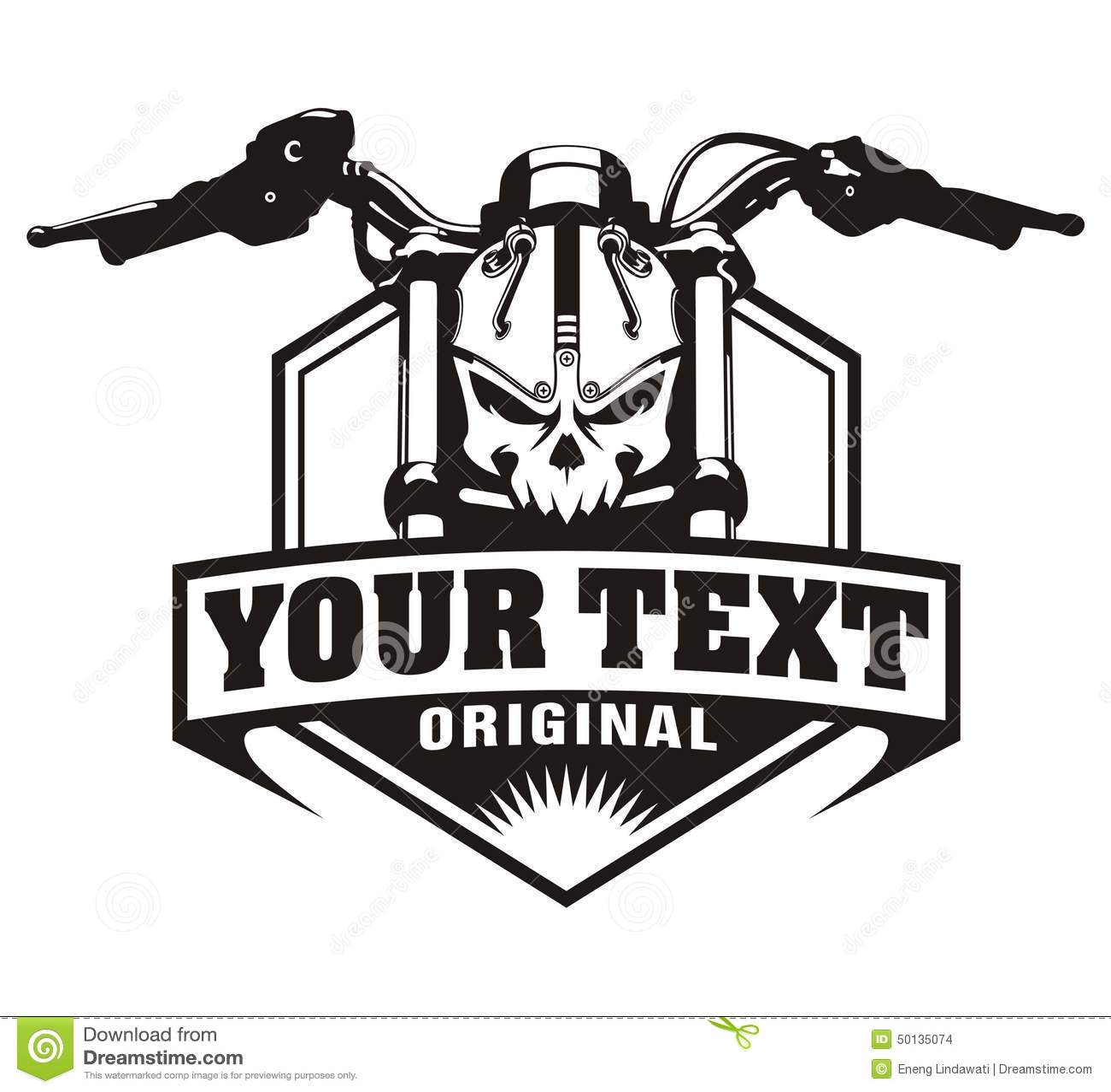 Skull Motorcycle Logo motorcycle skull vintage stock illustration ...