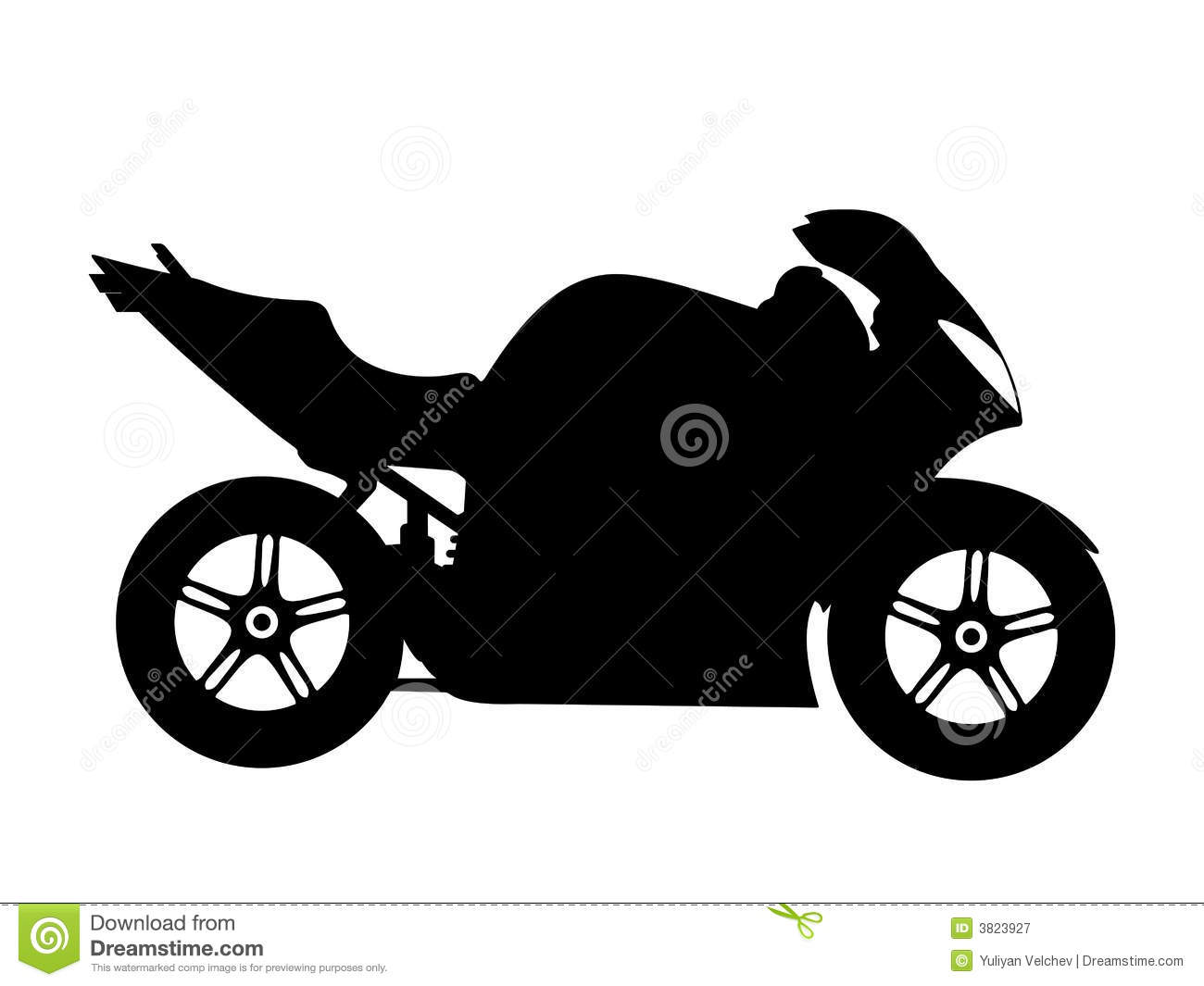Motorcycle Vector Royalty Free Stock Photography - Image: 3823927