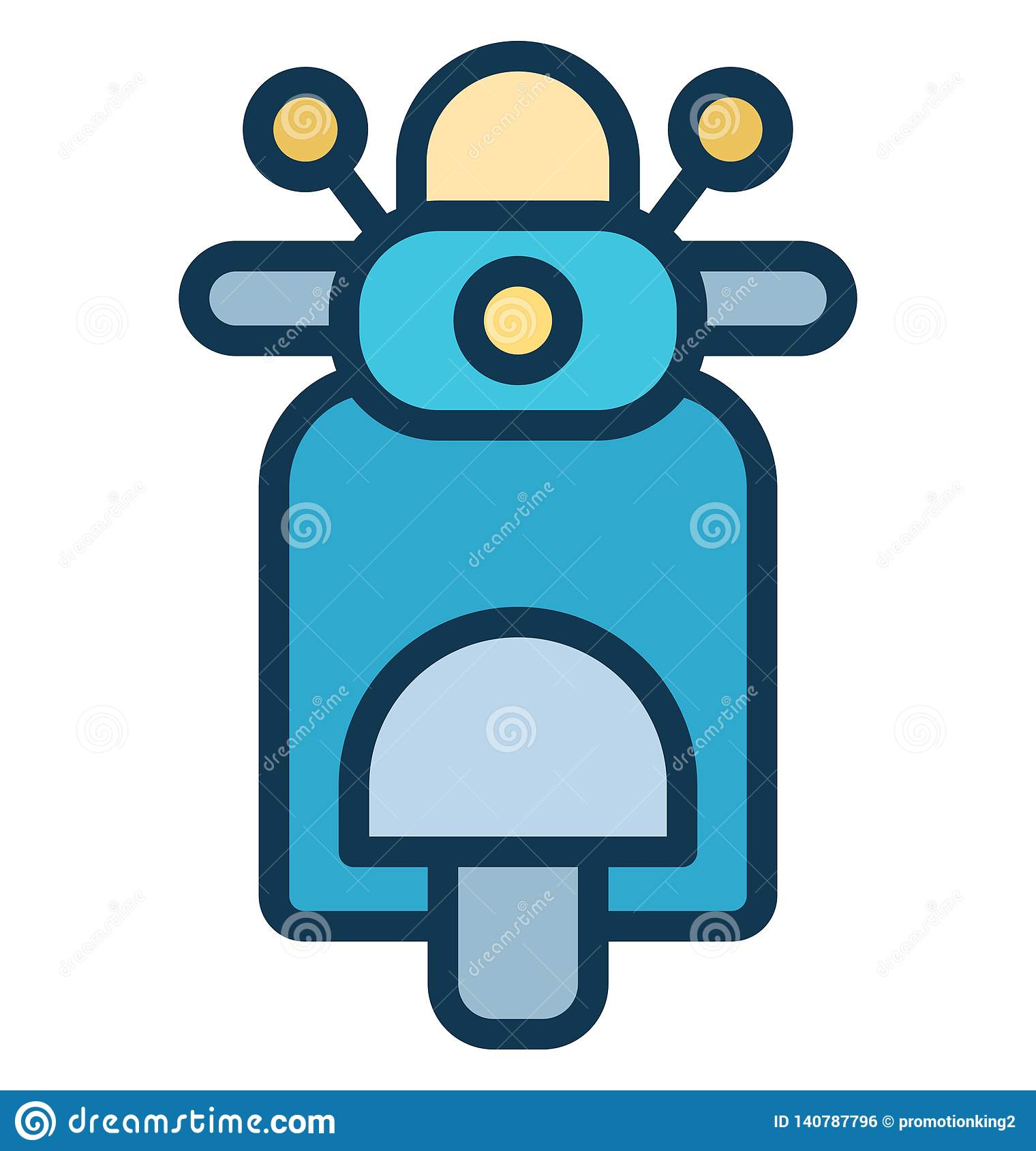 Motorcycle Vector icon which can be easily modified or edit in any color