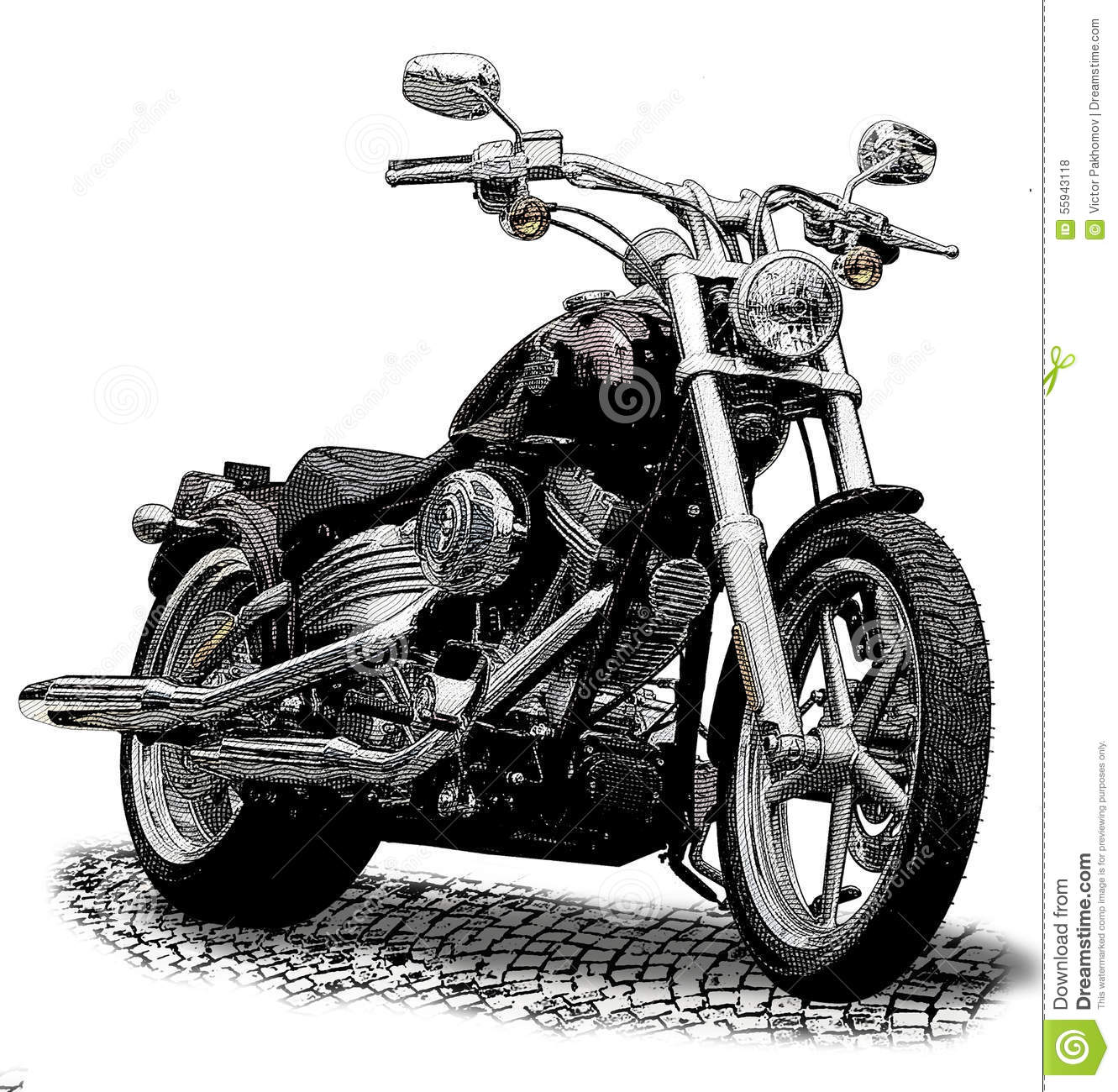 motorcycle stock illustration image 55943118. Black Bedroom Furniture Sets. Home Design Ideas