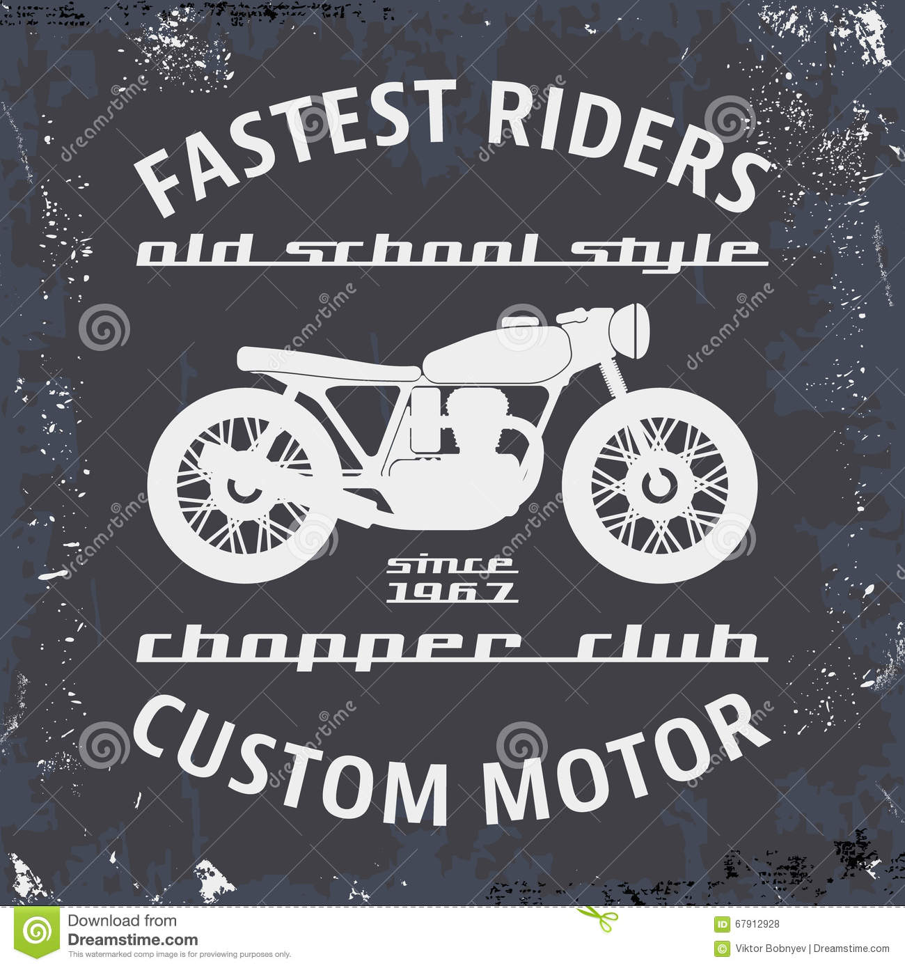 Motorcycle vintage stamp stock vector illustration of for Stamp t shirt printing