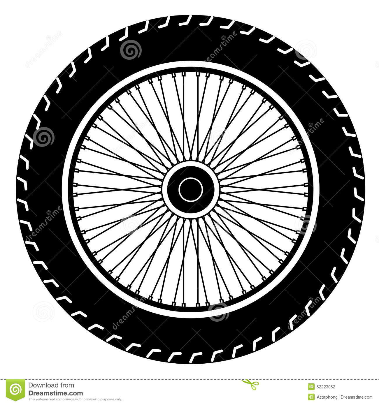 Motorcycle Wheel Vector Stock Image 52223052
