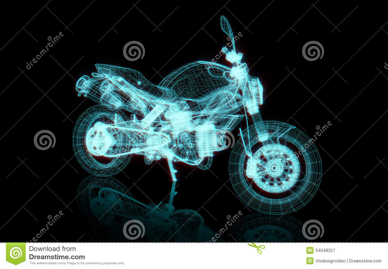 Motorcycle wire frame stock illustration. Illustration of blue ...