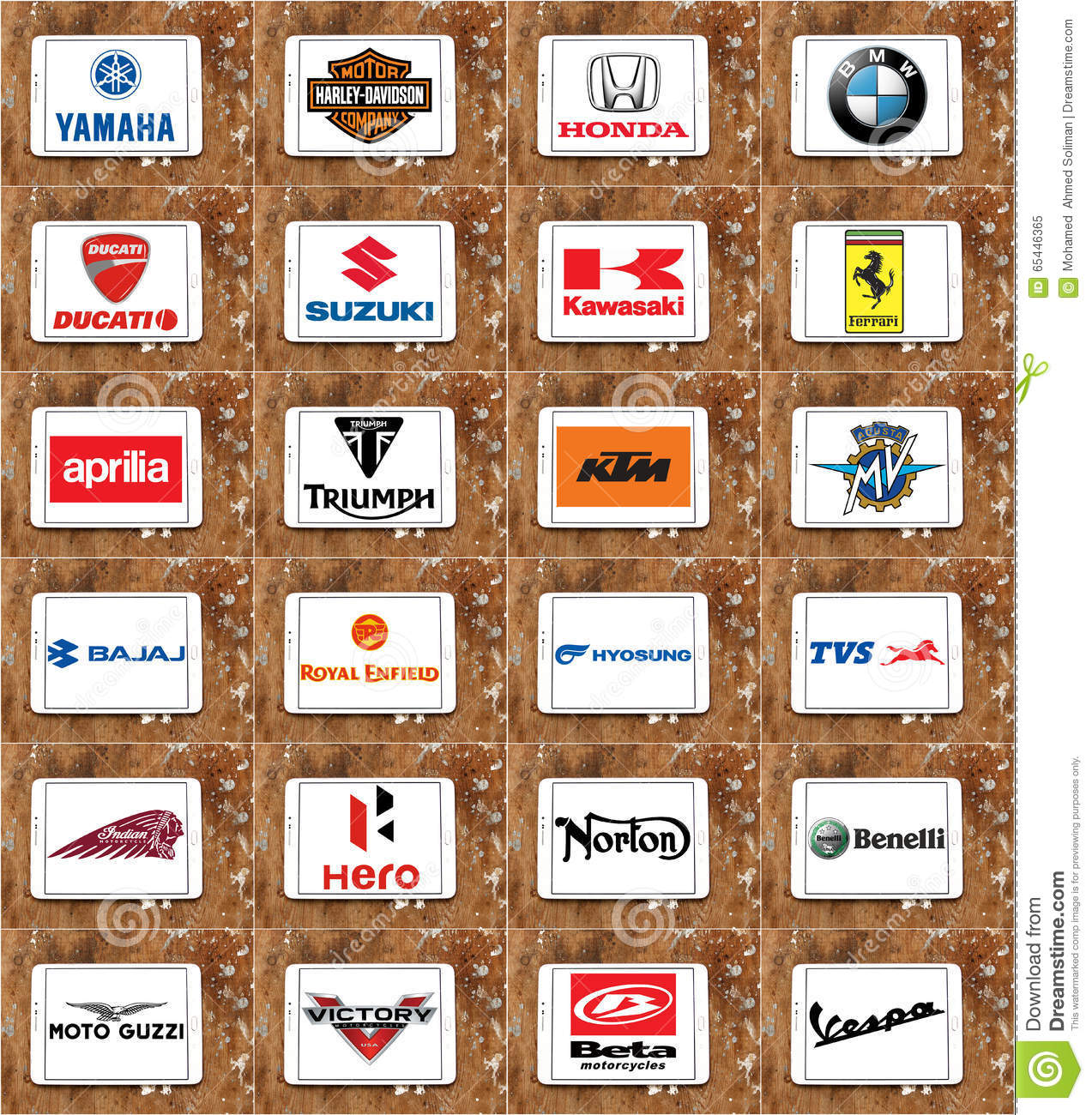 Motorcycles Producers Logos And Brands Editorial Image - Image ...