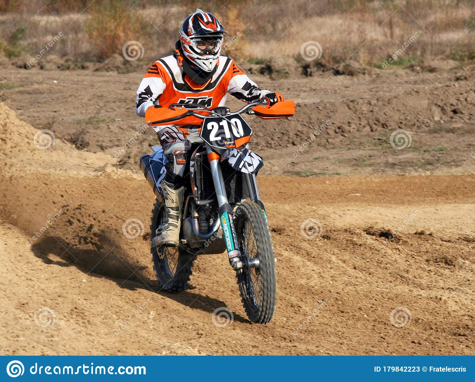 Motorcyclist Racing On Dirt Bike Off Road Editorial Stock Photo Image Of Exhaust Competition 179842223