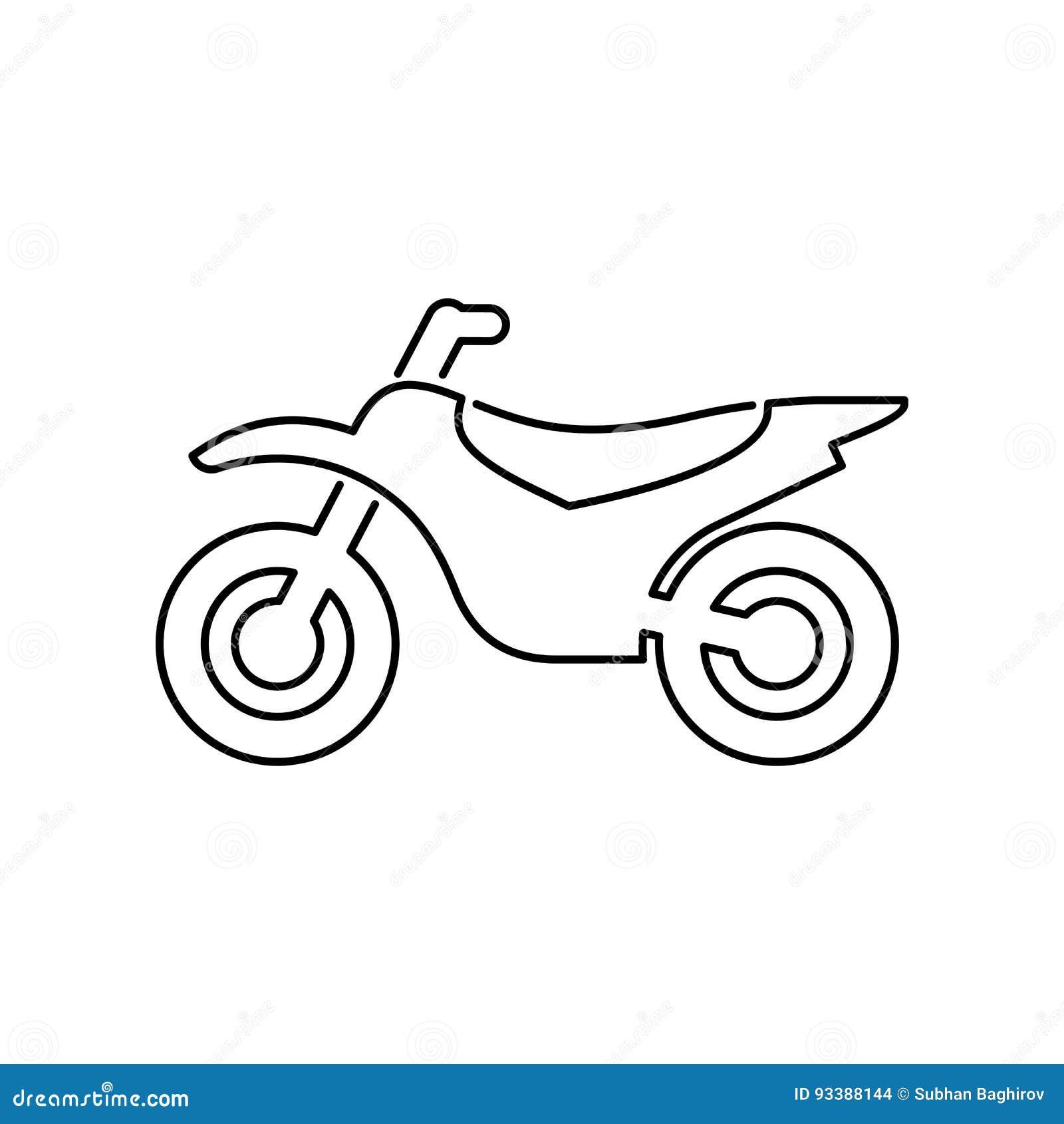 motorcykel illustration f u00f6r vektor f u00f6r mopedsymbol enkel