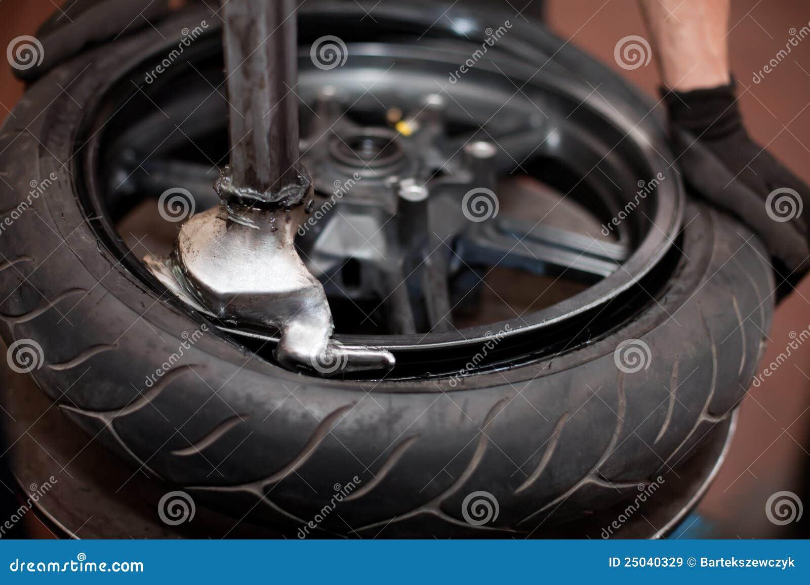 Motorcykelreparationsgummihjul