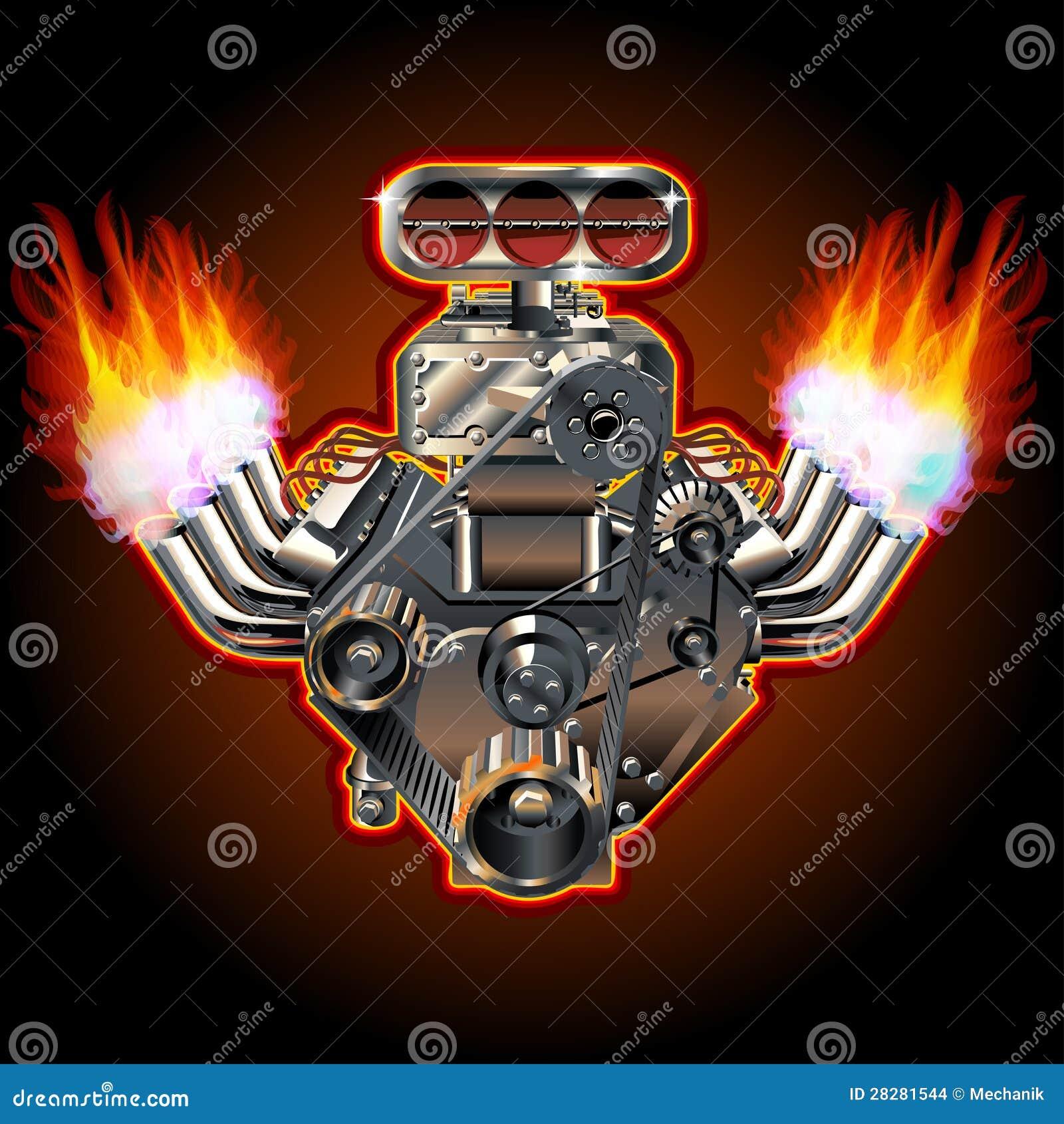Motore di Turbo del fumetto di vettore