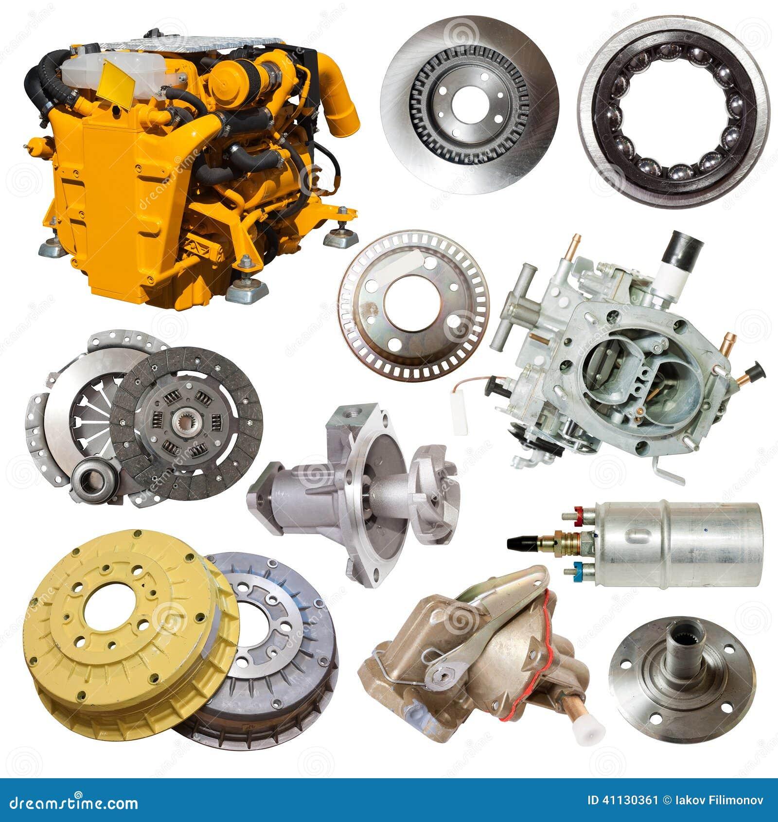 Motore e poche parti automobilistiche