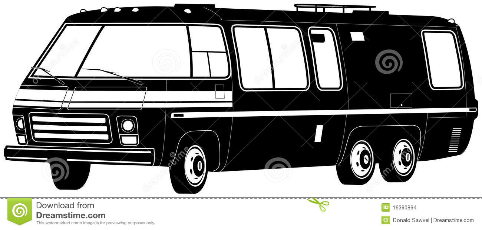 Motorhome Illustration Stock Images - Image: 16390864