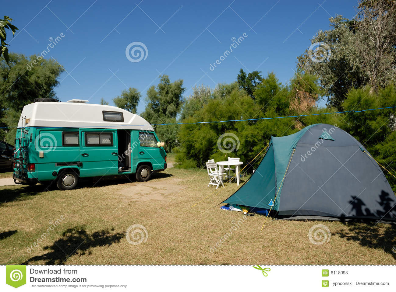 motorhome parked at campsite stock photos image 6118093 Camping Caravaning Quebec Camping and Caravanning Club