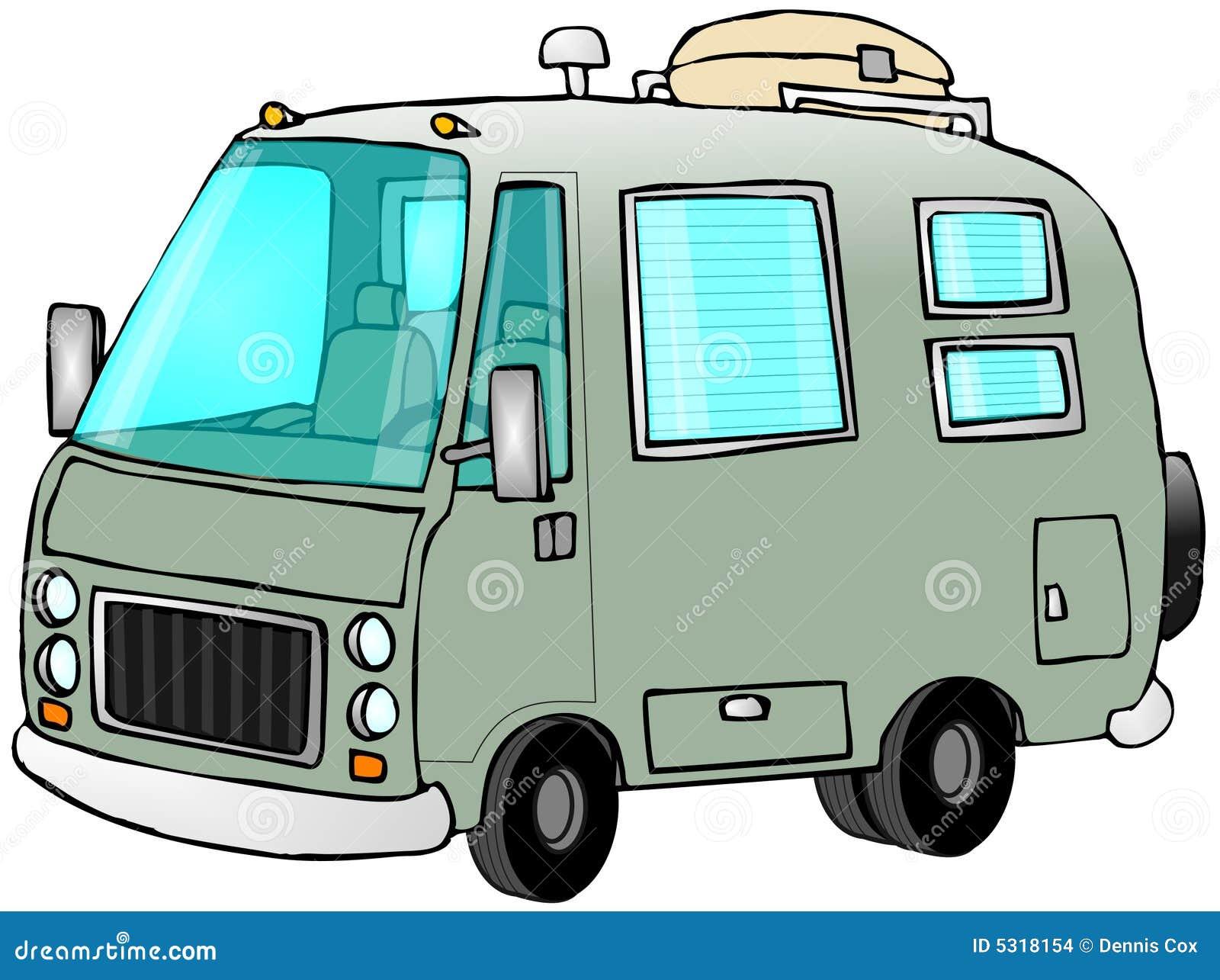 Download Motorhome verde illustrazione di stock. Illustrazione di respingente - 5318154