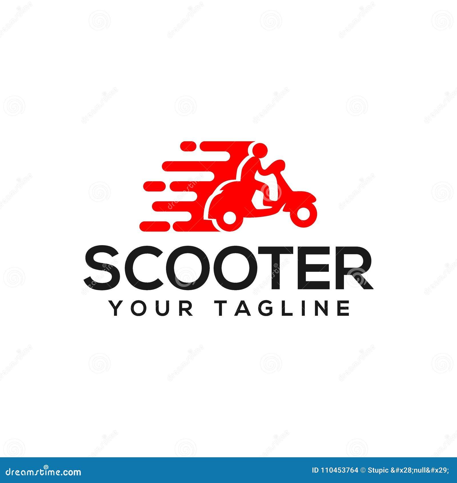 59fdad80d5 Illustrazione semplice ed unica di vettore di logo del motorino per vari  scopi e migliore uso